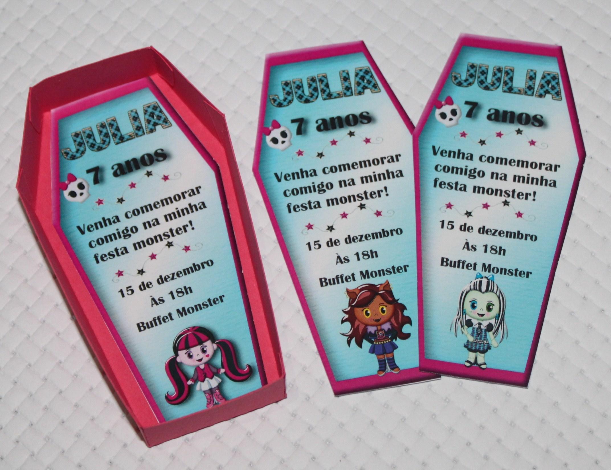 Convite Monster High Convite Monster High Convite Monster High
