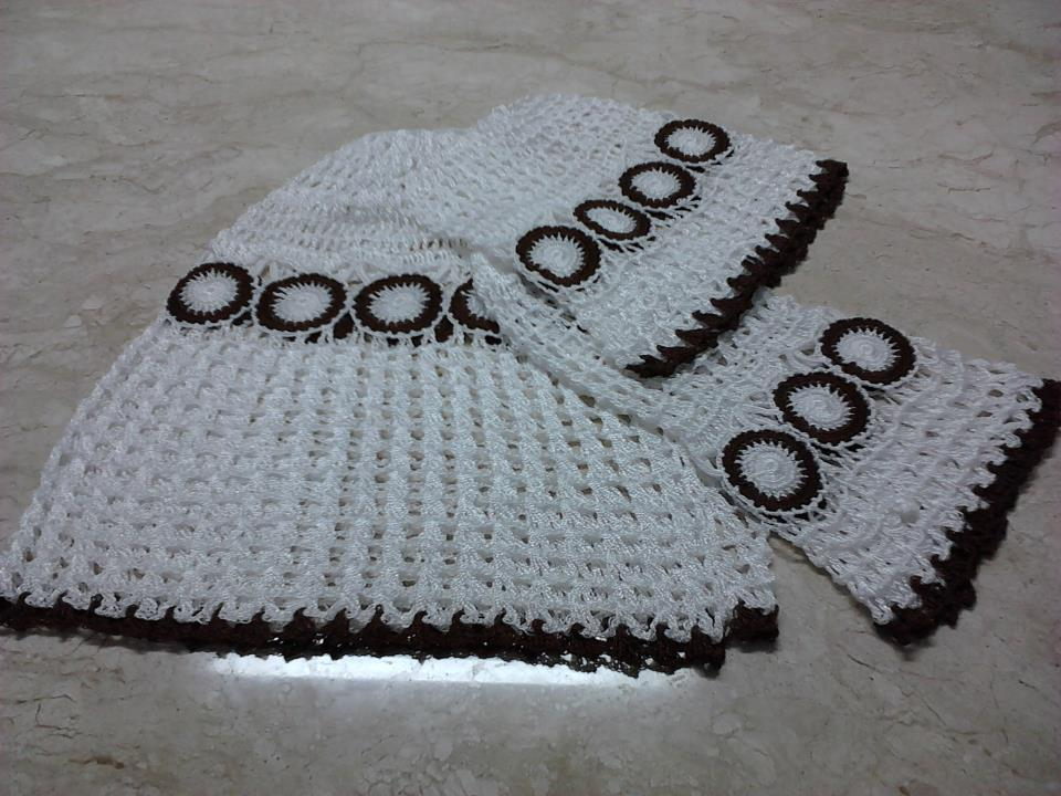 960 x 720 · 104 kB · jpeg, Jogo de capas de crochet para cozinha