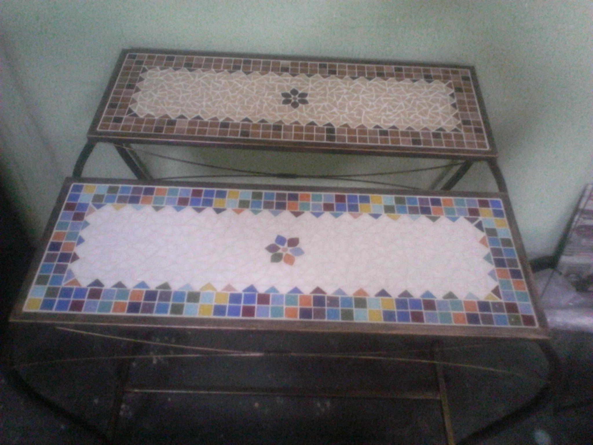 aparadores em ferro e mosaico aparadores em ferro e mosaico #4F5D72 2048x1536