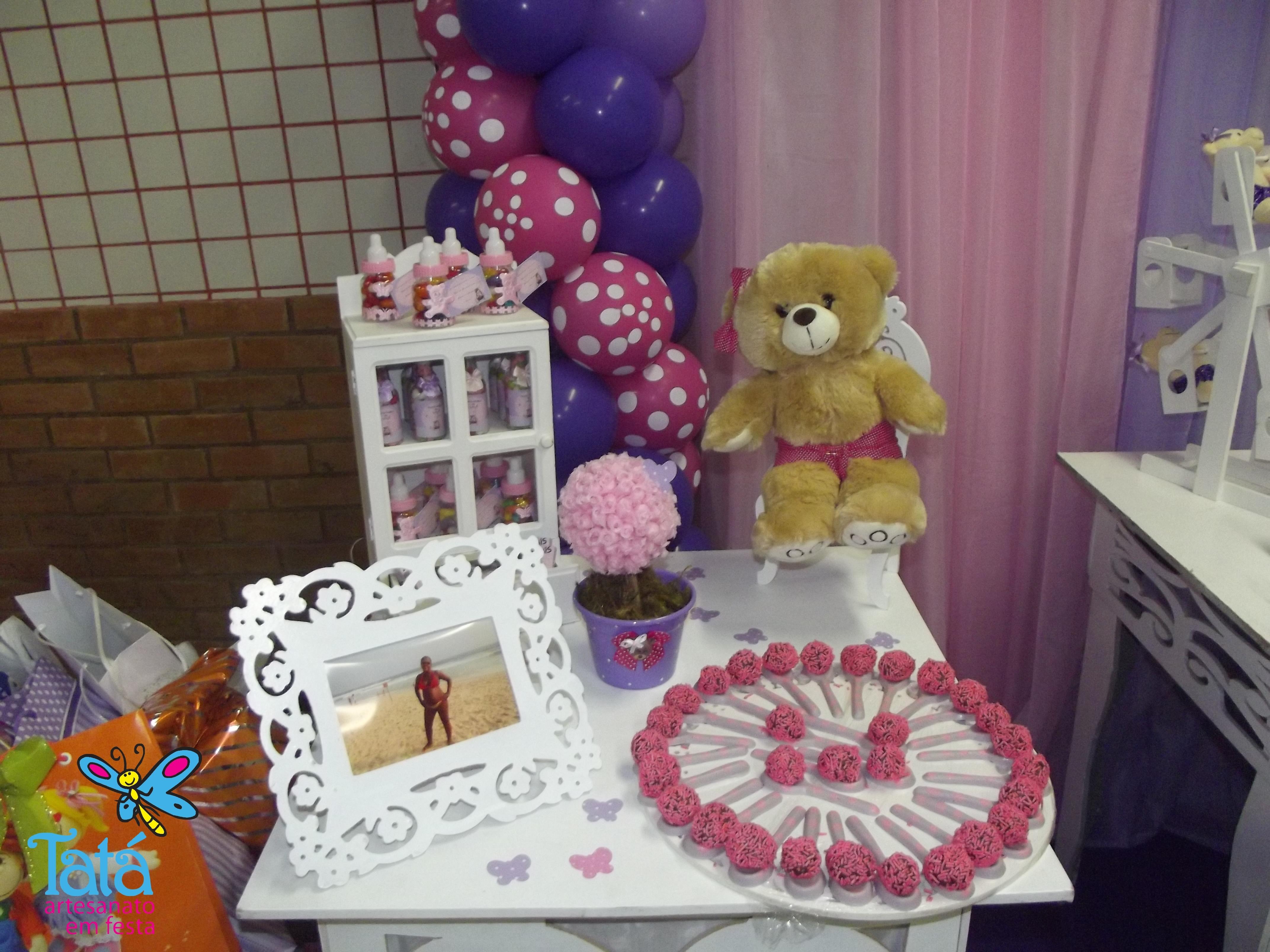 decoracao cha de bebe lilas e rosa decoracao cha de