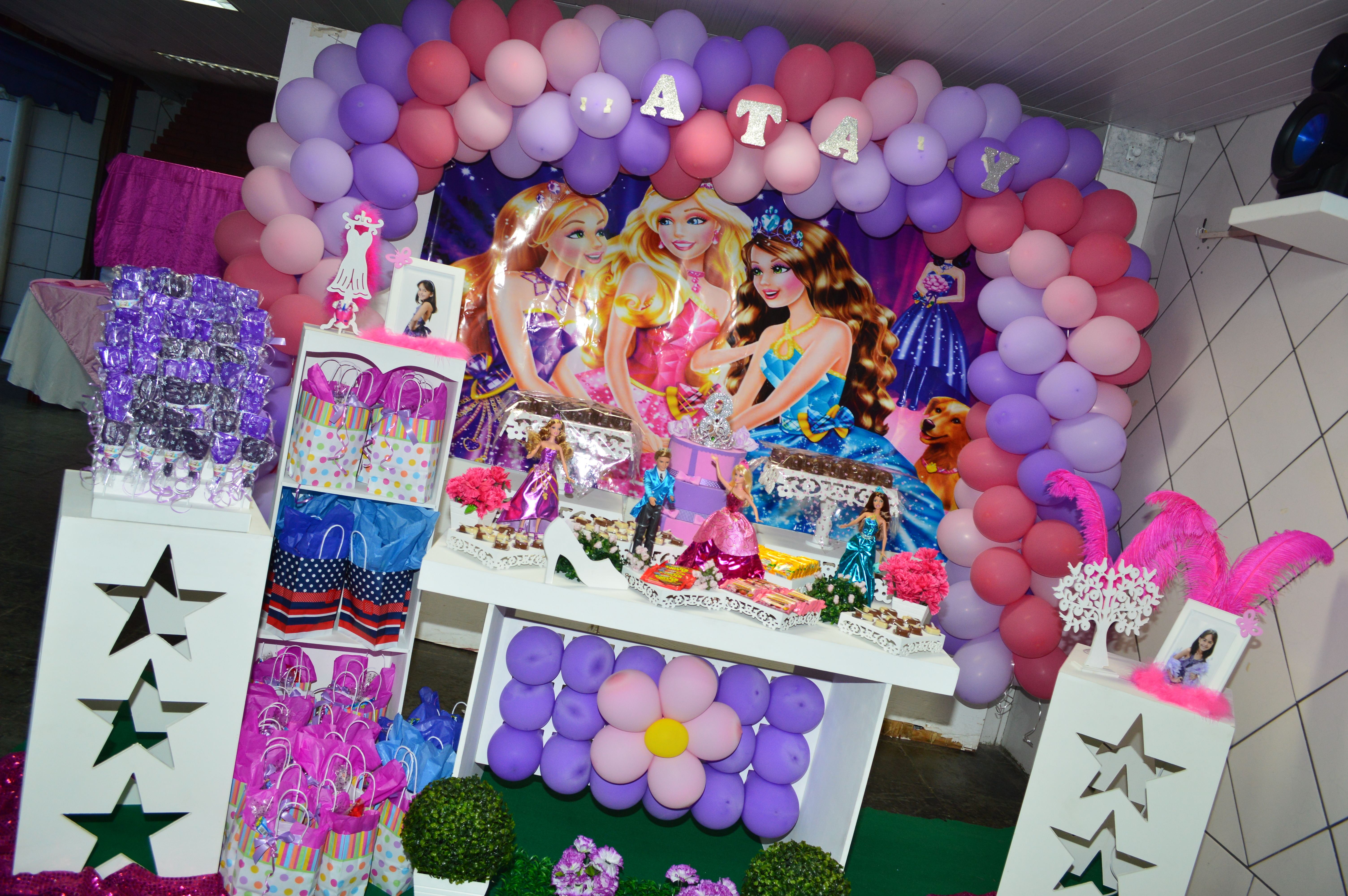 Decoracao Provencal De Festa Barbie Escola De Princesas ...