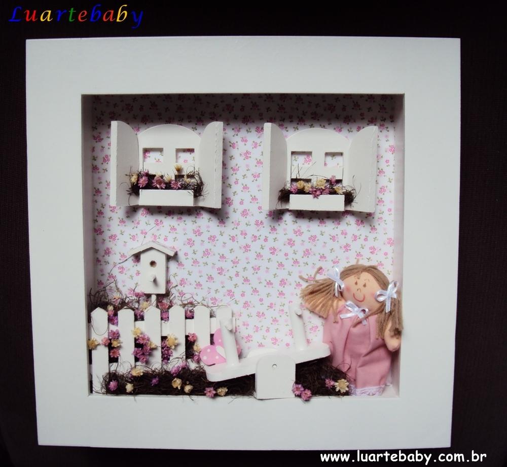 Quadro para quarto de bebê cenario Luartebaby Decoração  ~ Ver Quadros Para Quarto De Bebe