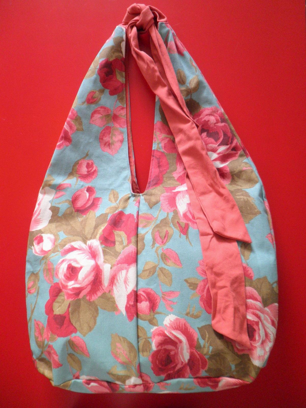 Bolsa De Tecido Com Fecho : Bolsa de tecido floral d?bora costa elo