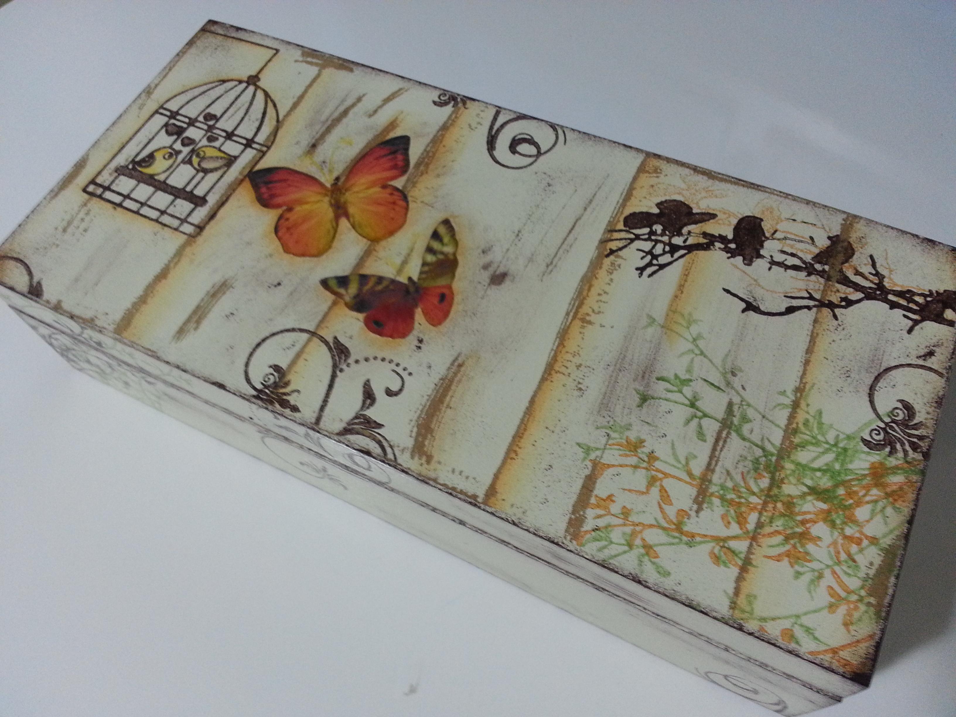 Caixa porta relógios Artes da Iza Elo7 #6D4430 3264x2448