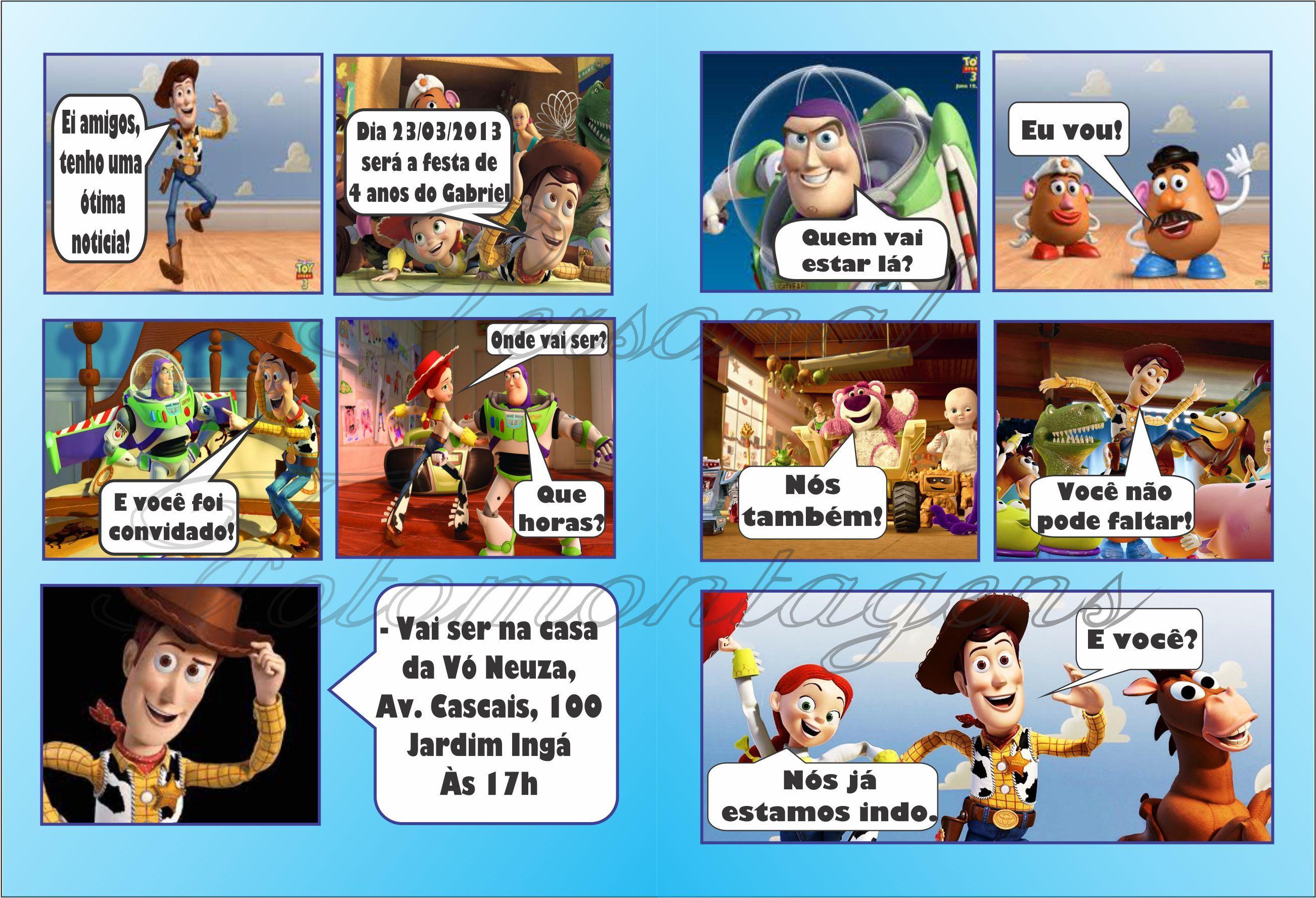 - História em Quadrinhos Convite Infanti - História em Quadrinhos ...