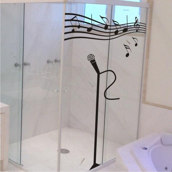 Adesivo Cantando no Banheiro Magia  Magia Decor Adesivos Decorativos  Elo7 -> Adesivo Para Decoracao De Banheiro