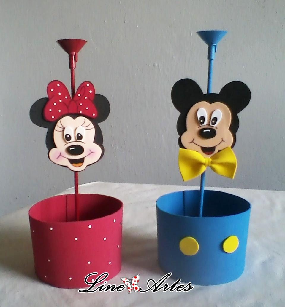 Enfeite De Mesa Da Minnie Ou Mickey Enfeite De Mesa Da Minnie Ou
