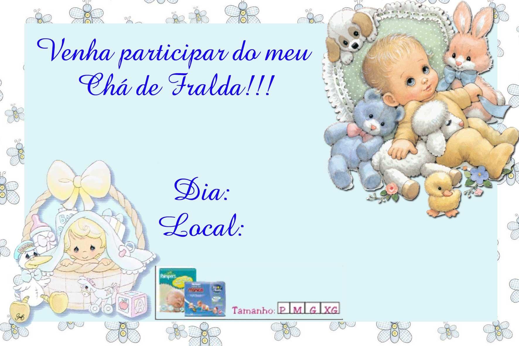 Convite Ch   De Beb   Ou Fralda
