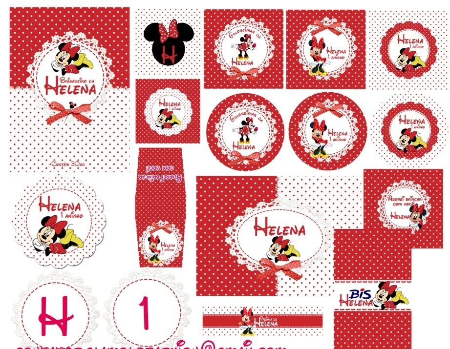 Kit Festa Digital Minnie Vermelha Minnie Vermelha Jpg  Car Interior
