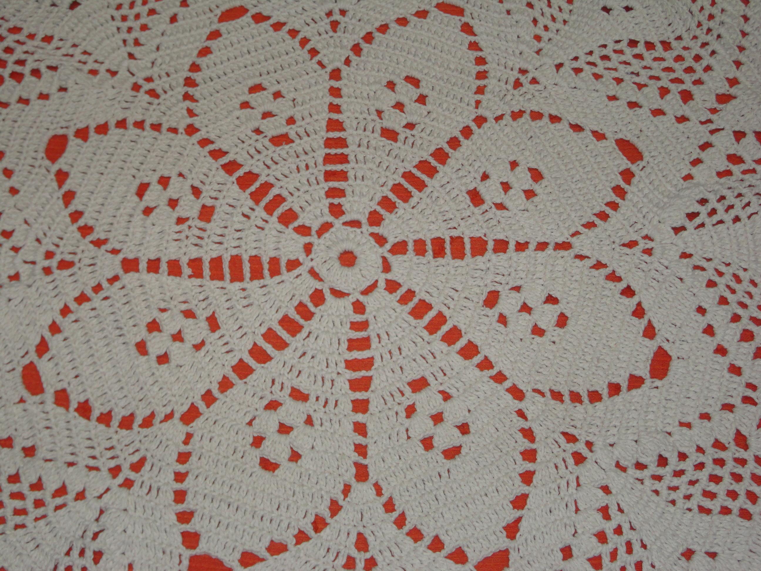 Carla cristina crochet tapetes em barbante barroco for Tapetes de crochet