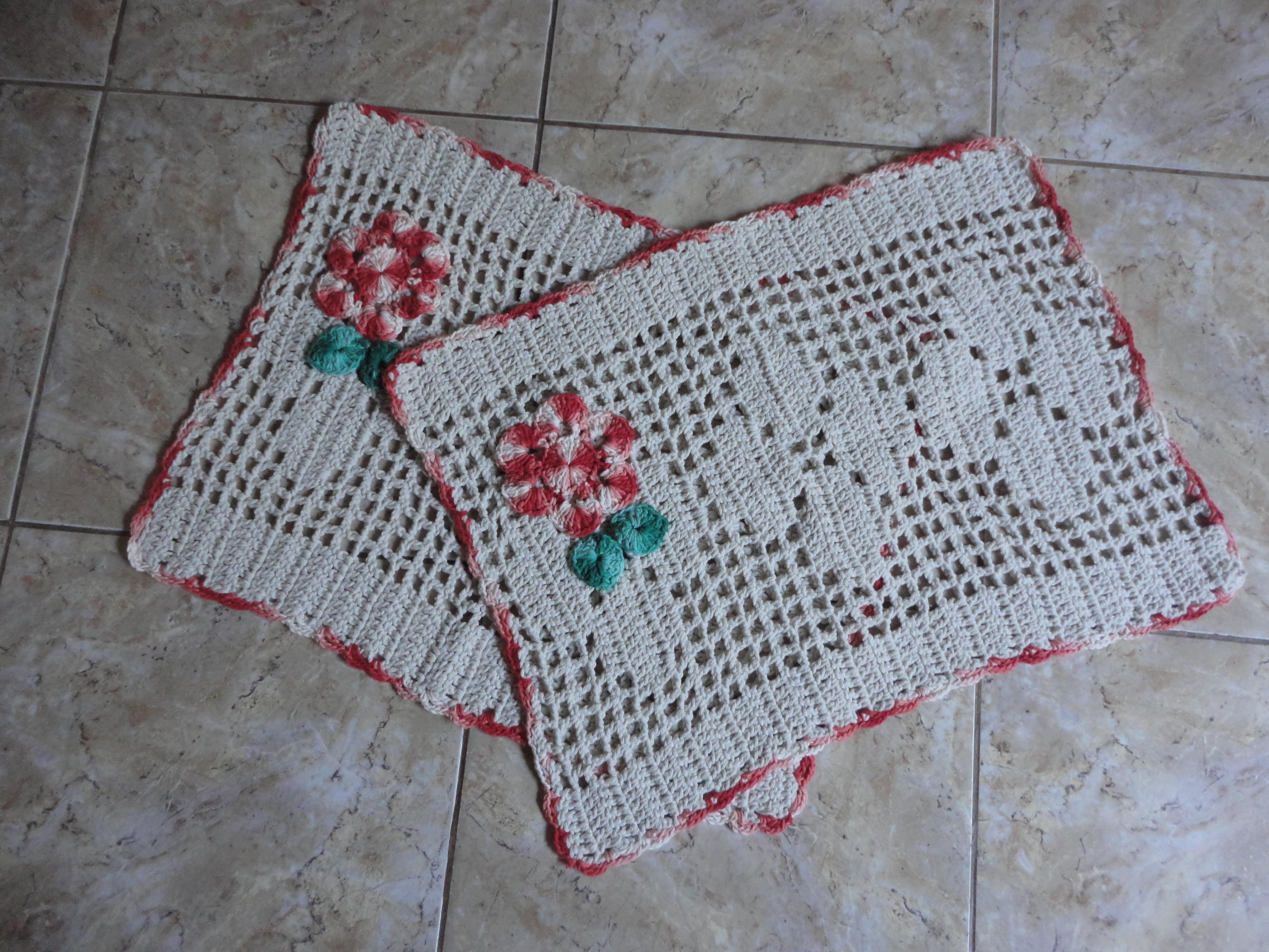 Fotos De Jogo De Tapete P Banheiro Em Crochê Barbante 04 Peças Pictures to pi -> Banheiro Decorado Com Croche