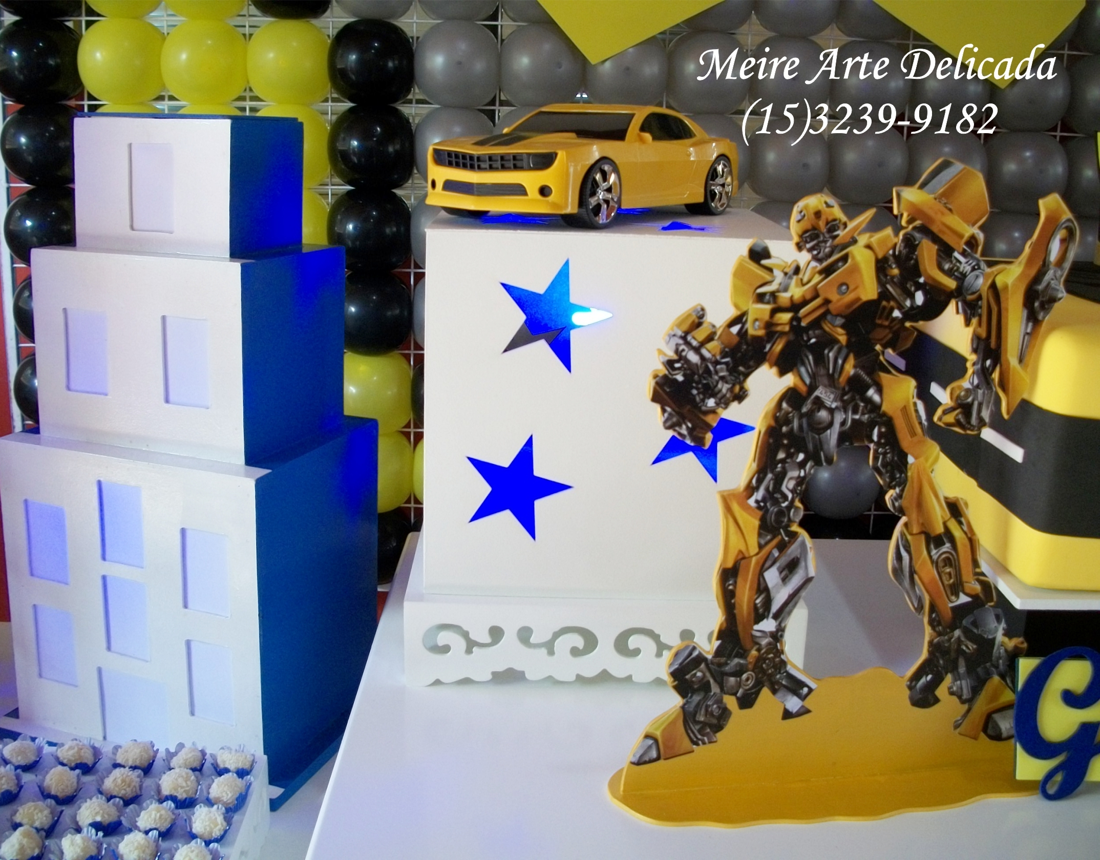 Decora o festa dos transformers clean elo7 - Transformers tapete ...
