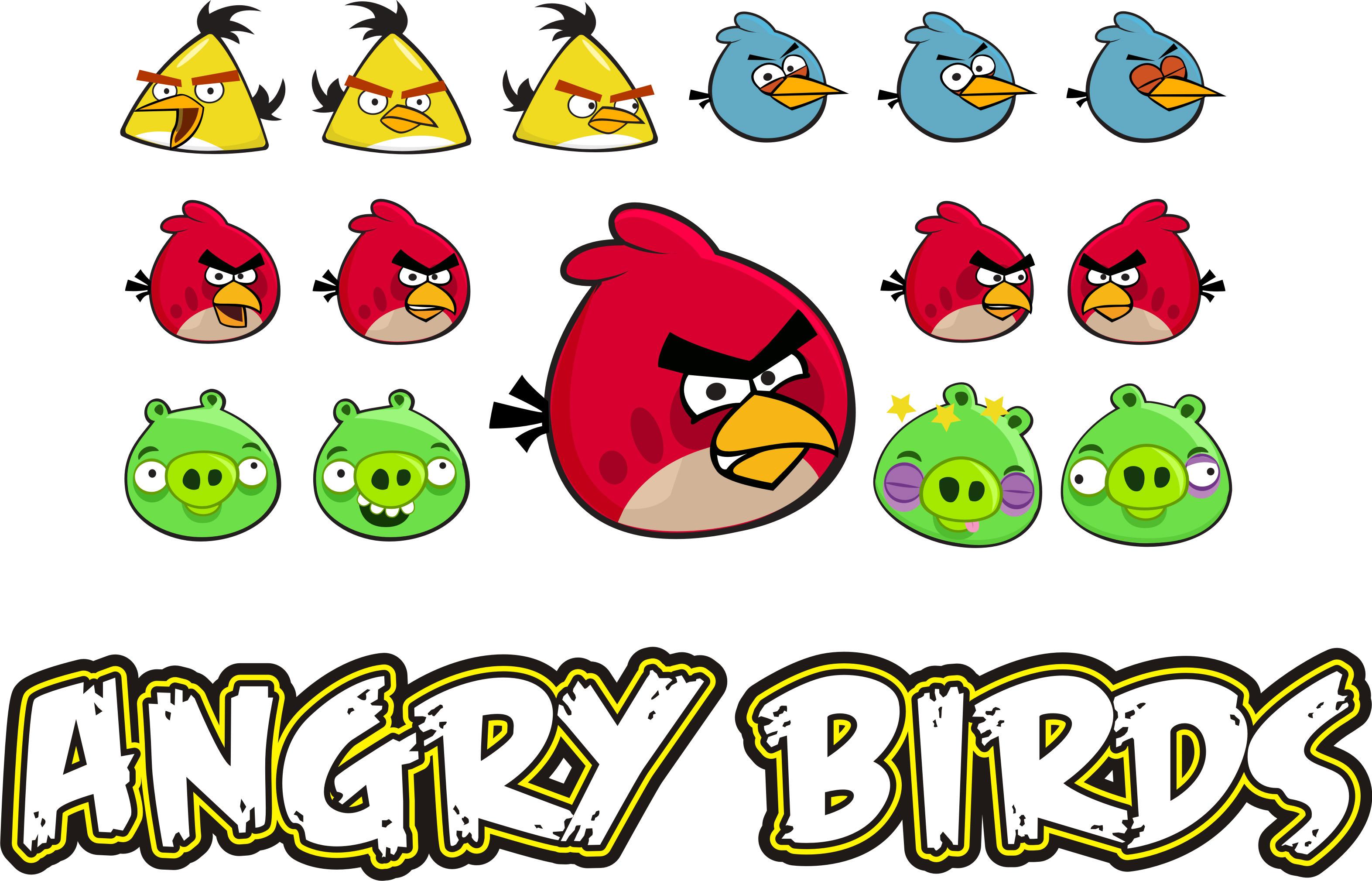 Colorido Angry Birds Personagens Vector: Corel Draw +25.000mil Imagens Vetorizadas Para Varias
