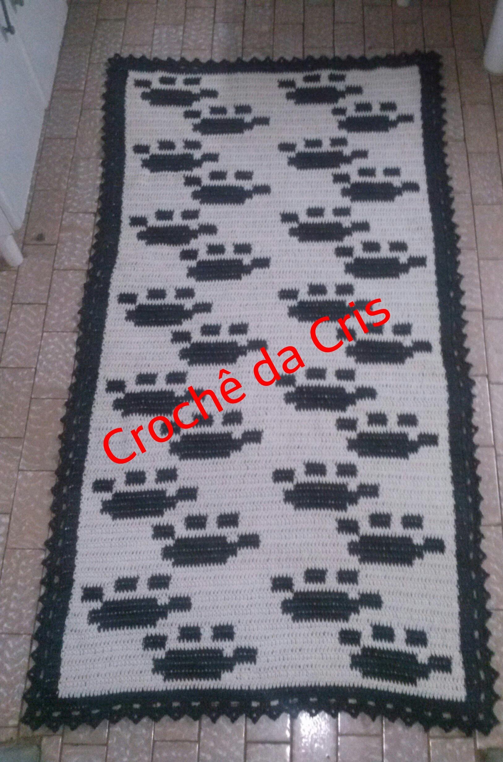 tapete pegadas de cachorro em croche tapete pegadas de cachorro em  #BE0D0E 1627 2462