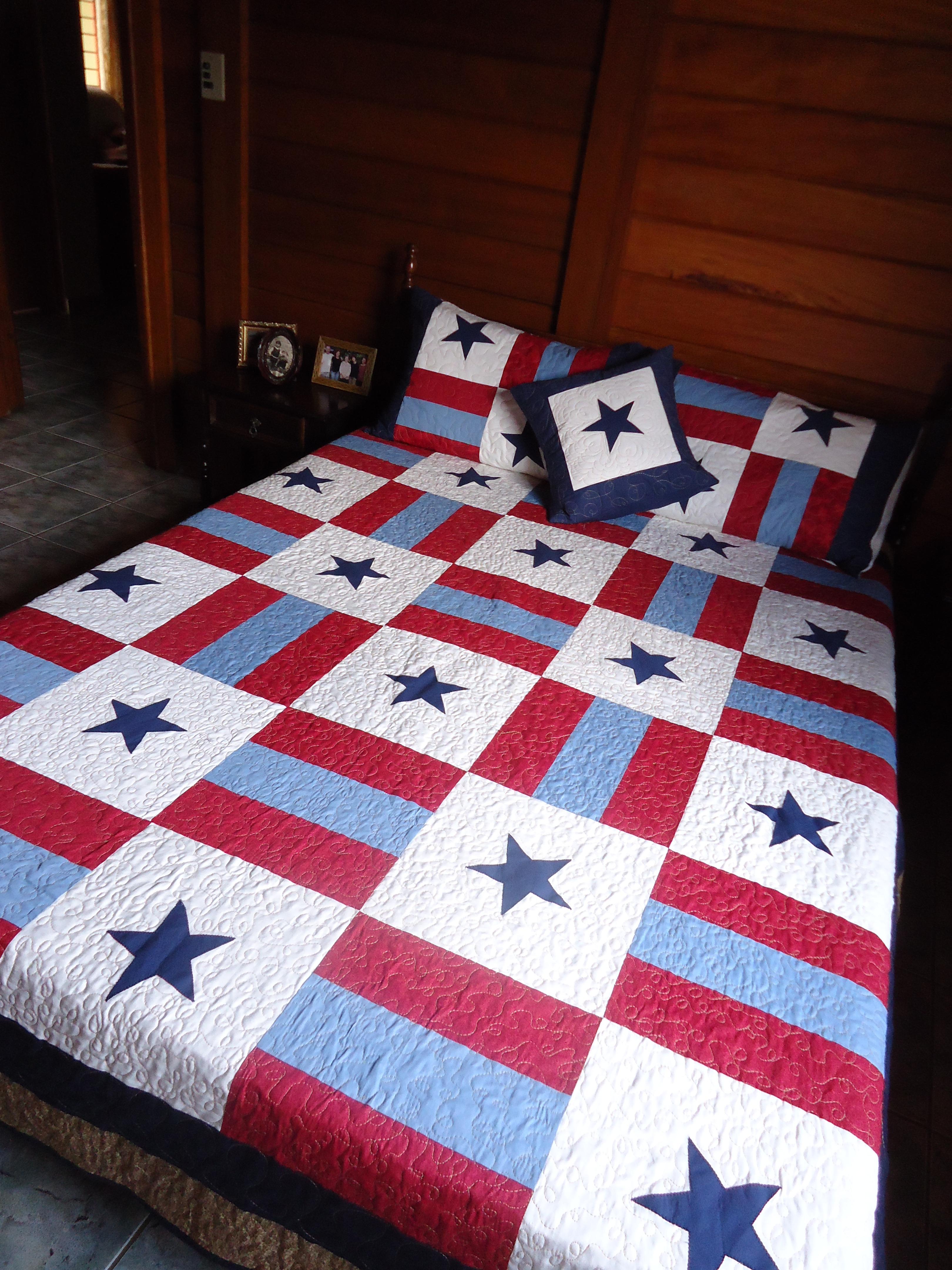 Colcha de patchwork artes da zecota elo7 - Colcha patchwork ...