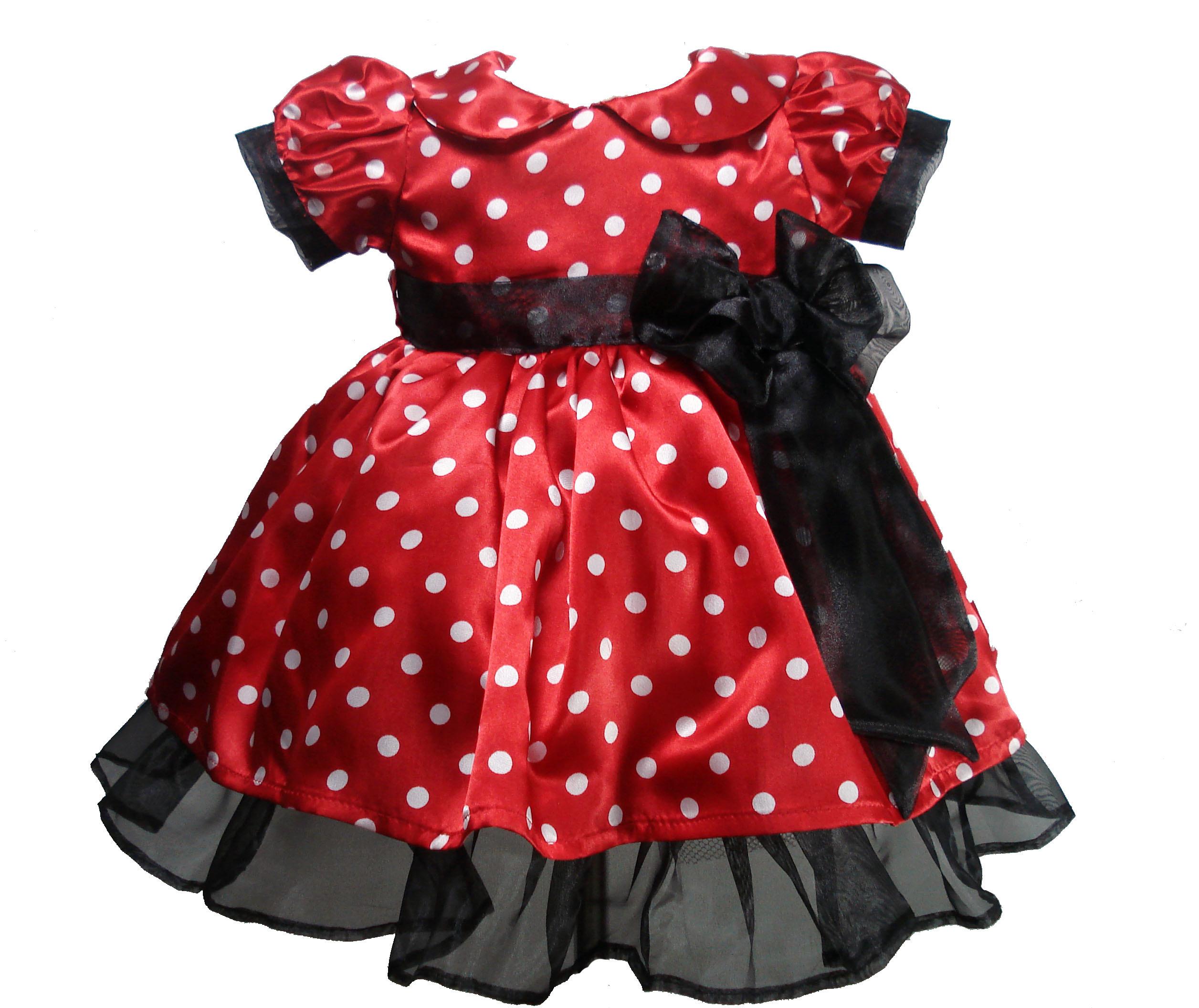 Vestido Minnie Vermelho Luxo 1026 Vestido Minnie Vermelho Luxo 1026