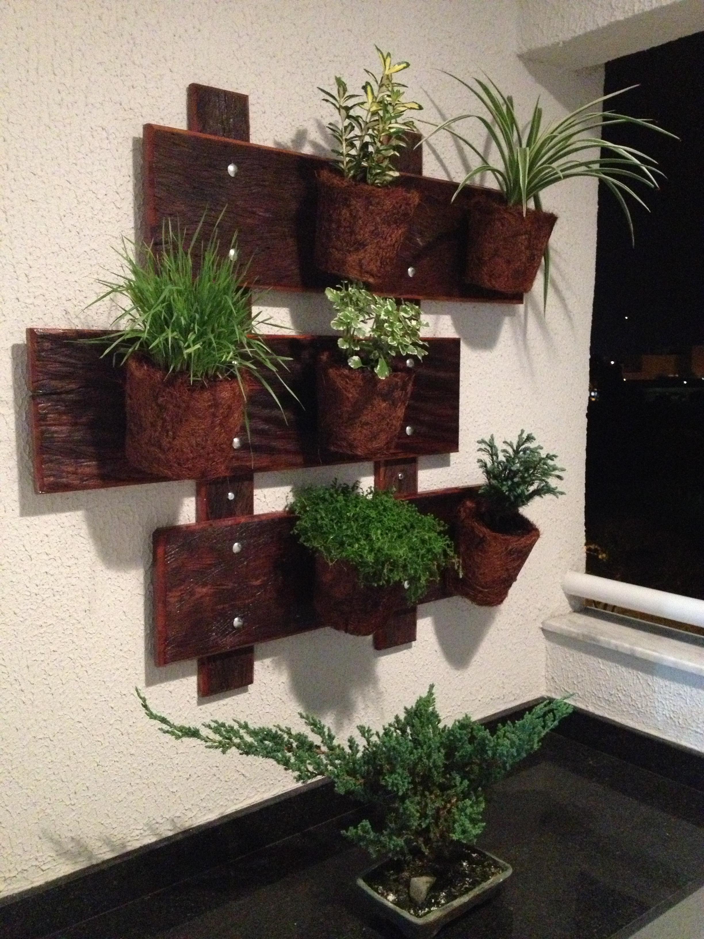 jardim verticcal jardineira em madeira jardim verticcal jardineira em  #603830 2448x3264
