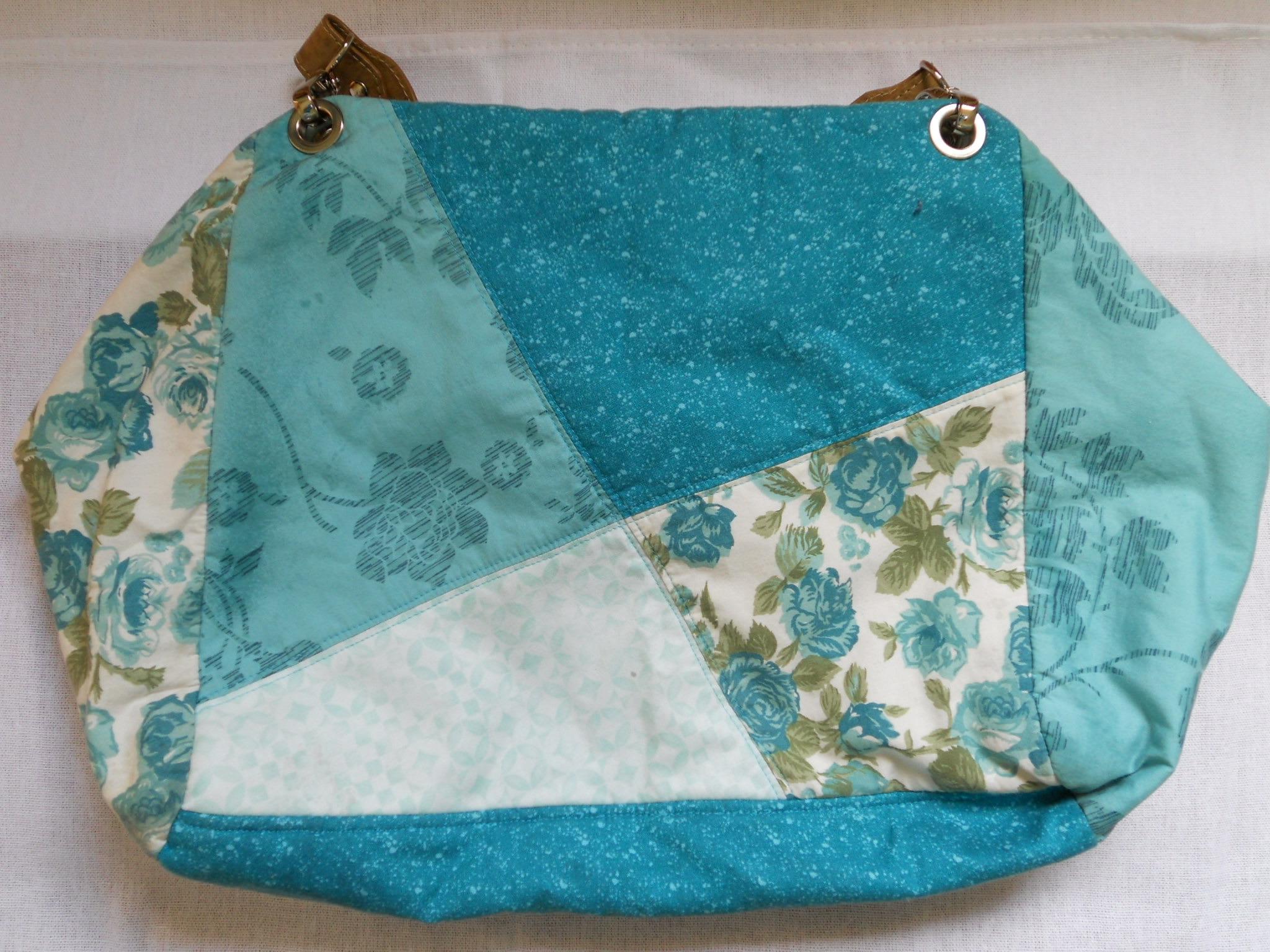 Bolsa De Tecido Com Alça De Couro : Bolsa em tecido com al?a couro magia patch ateli? elo