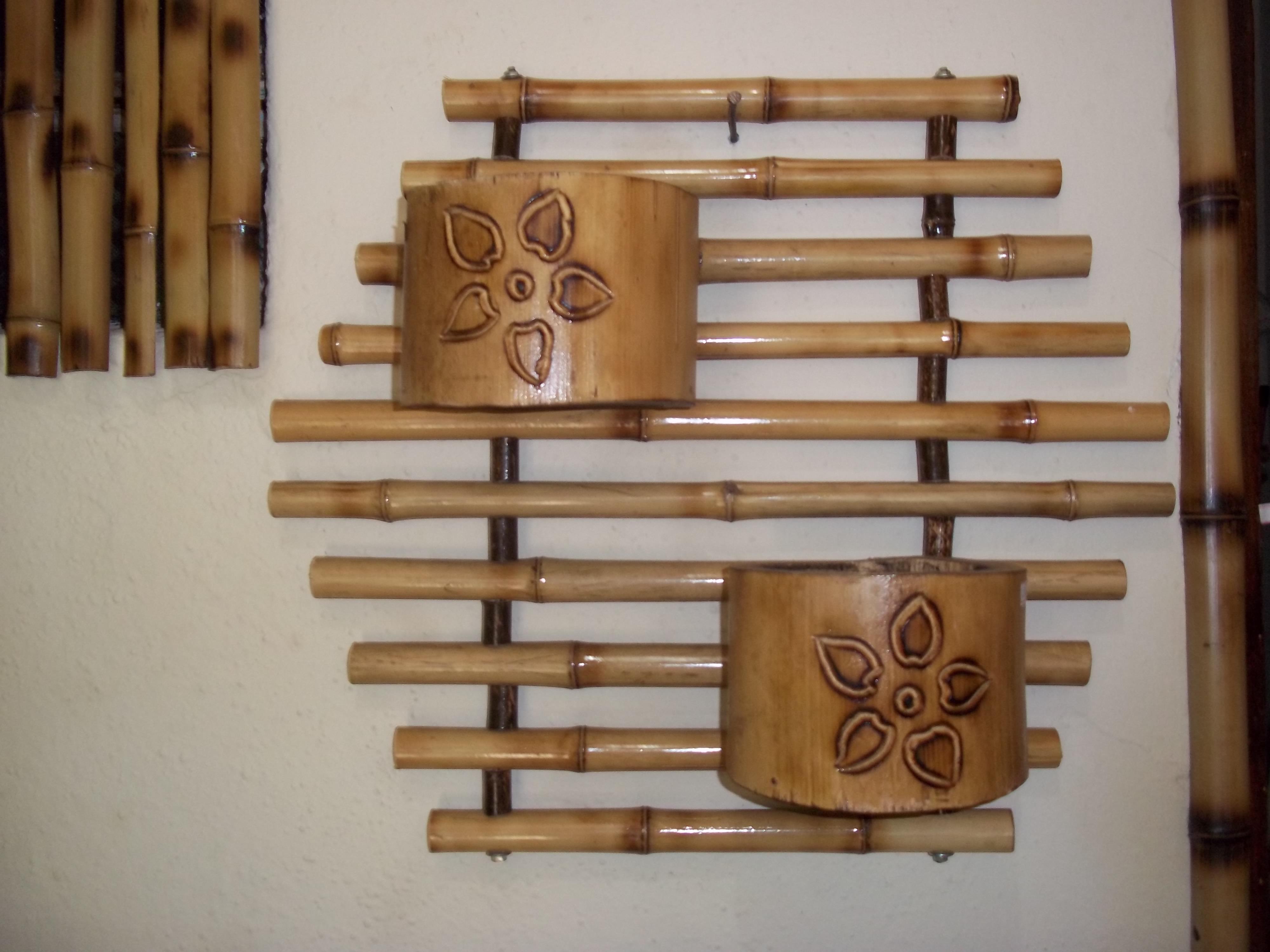 artesanato de bambu para jardim: de bambu floreira de bambu floreira de bambu floreira de bambu