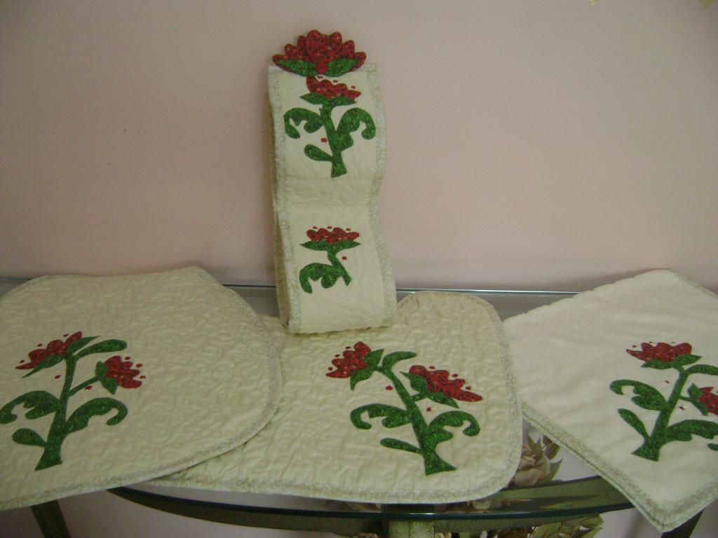 Jogo De Banheiro Completo : Jogo de banheiro completo costura com arte elo