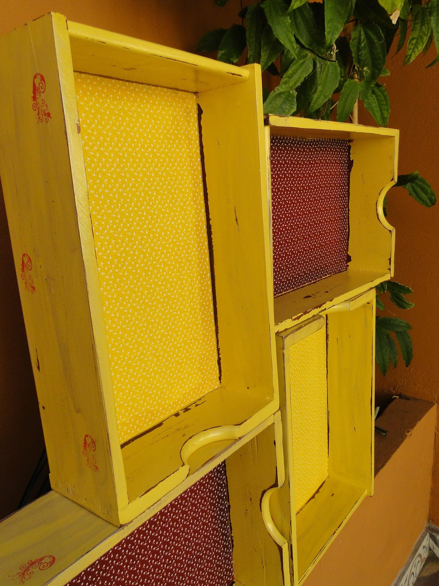 gavetas recicladas modulo estante gavetas recicladas modulo estante #BC8E0A 1536x2048
