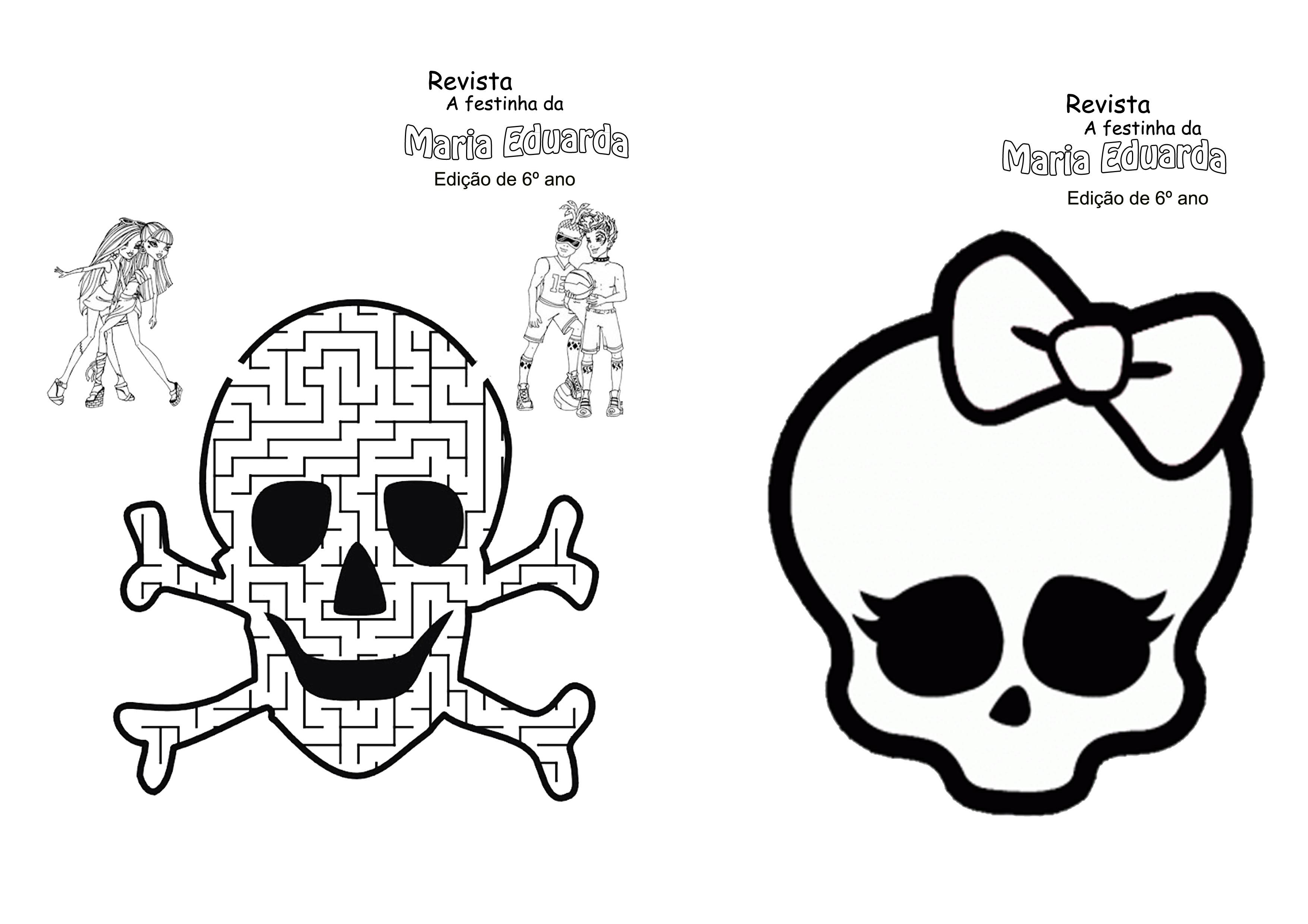 Desenhos Para Imprimir Monster High Monster High Para