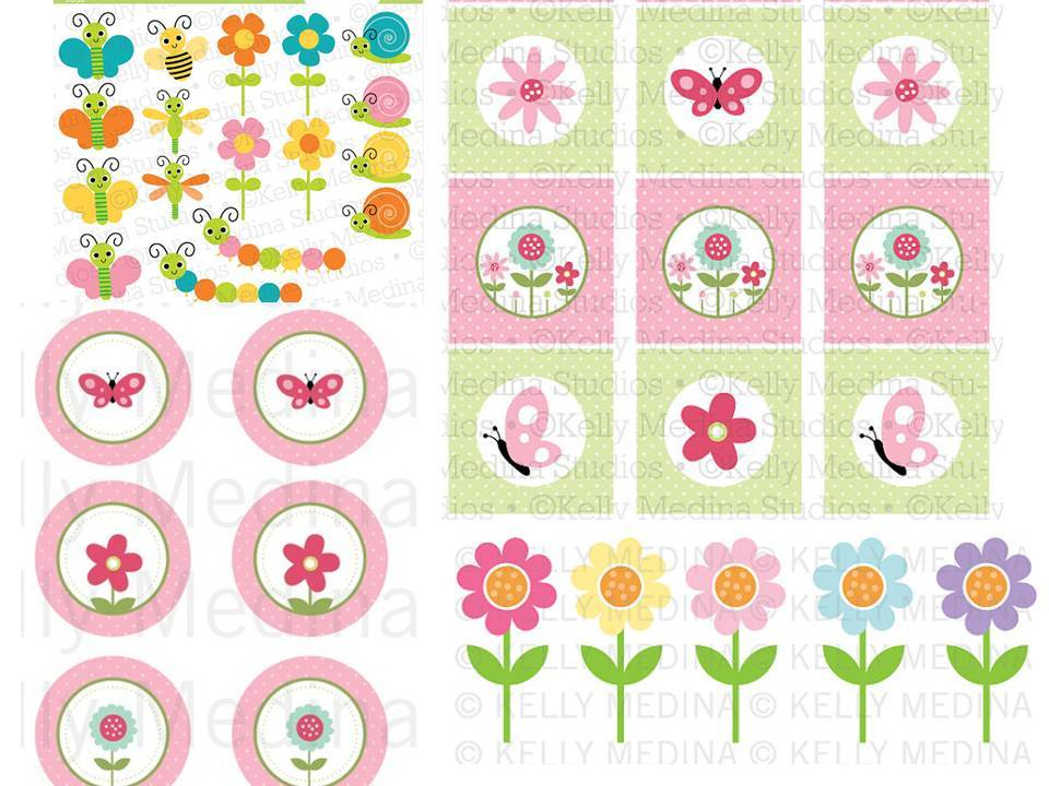 kit festa jardim encantadokit Digital Jardim Encantado Rosa