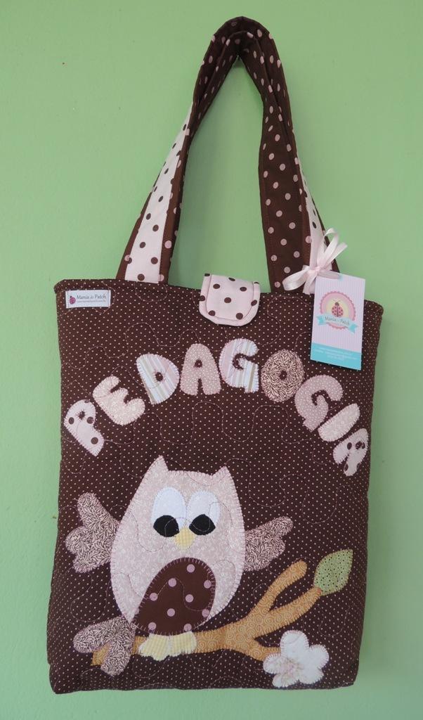 Bolsa De Tecido Pedagogia : Bolsa patchwork coruja mania de patch elo
