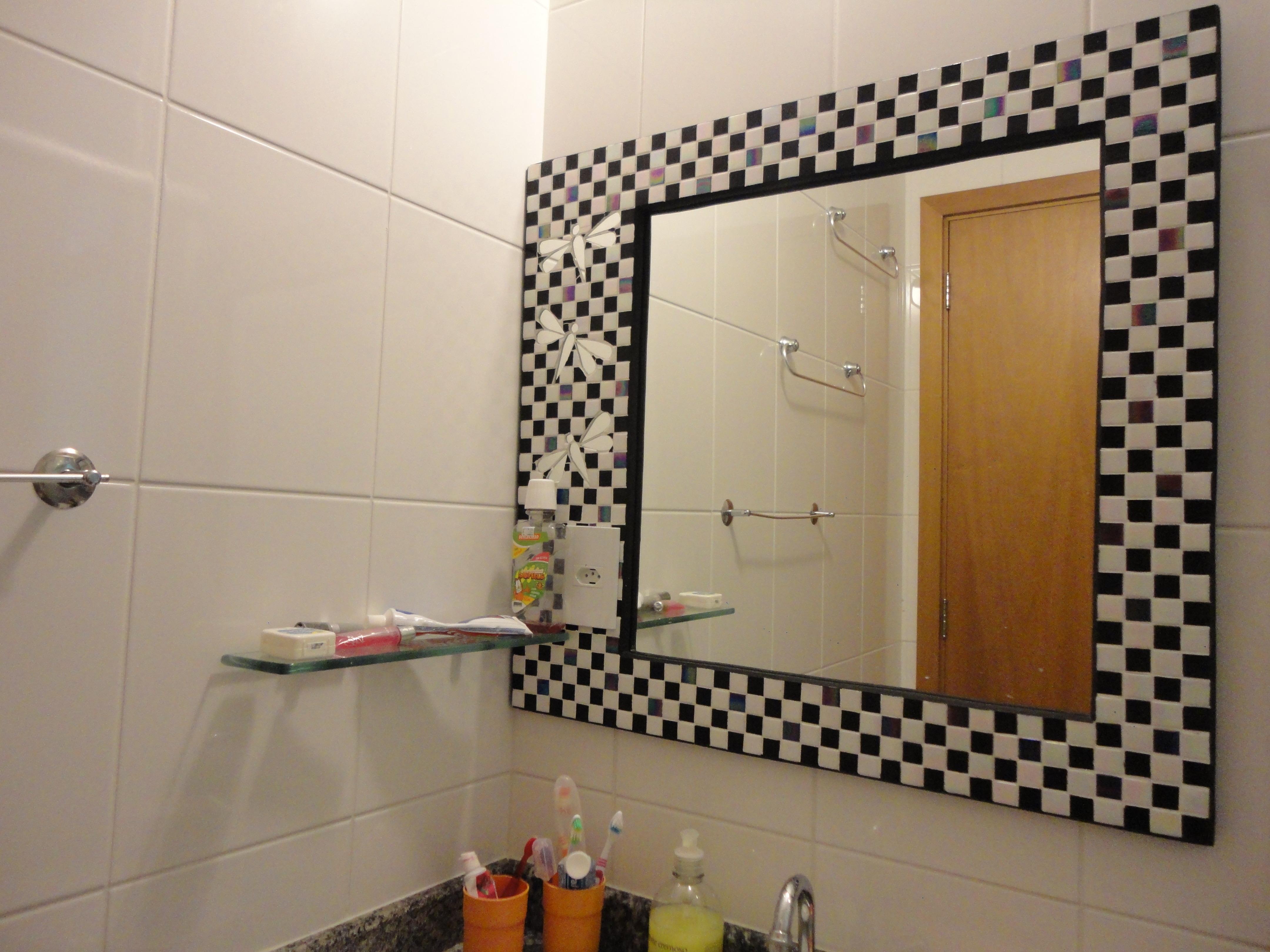 mosaico espelho mosaico espelho #71421E 4320x3240 Banheiro Com Pastilha Espelho