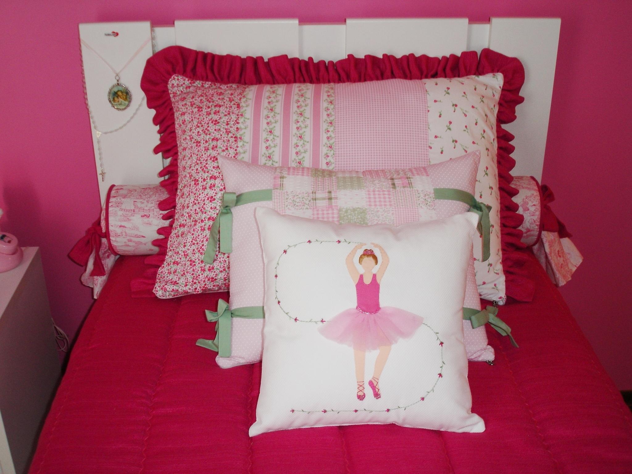 Kit Cama Juvenil Pink Arte no Pano Atelier Elo7