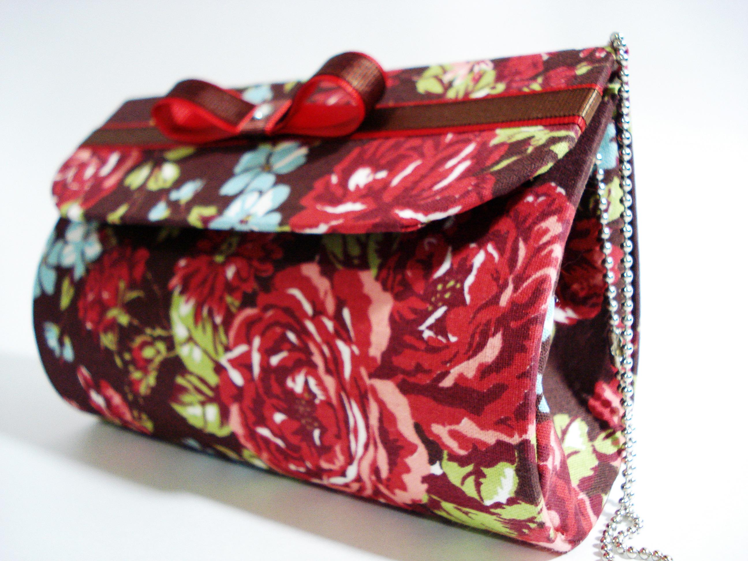 Bolsa De Mão Clutch : Bolsa de m?o clutch floral mandah arte design elo