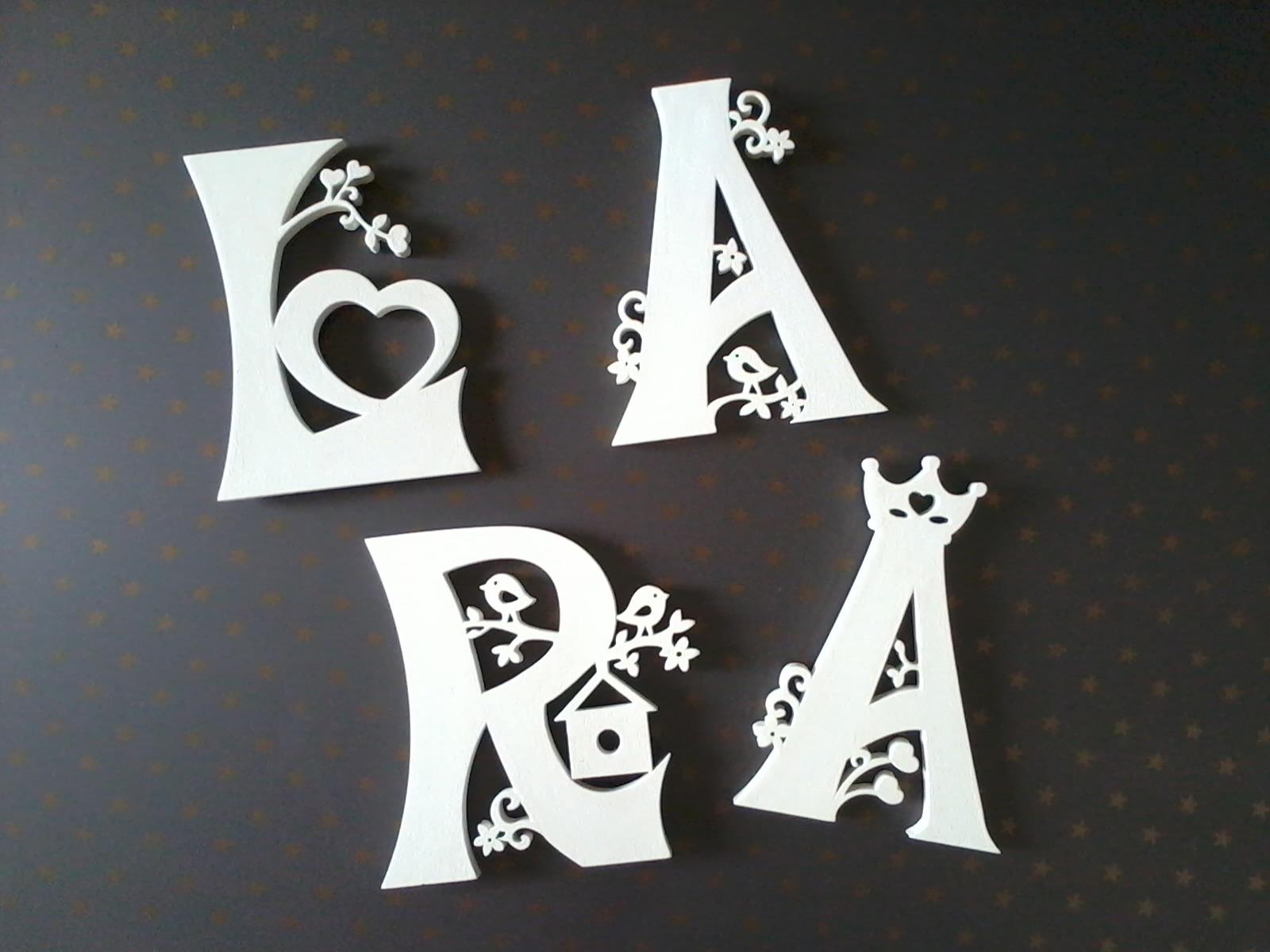 Letras Em Mdf Decoradas Taina: Letra Em 3D - Princesas!