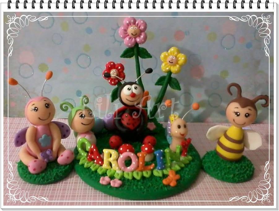 bolo jardim encantado jardim encantado em biscuit topo de bolo jardim
