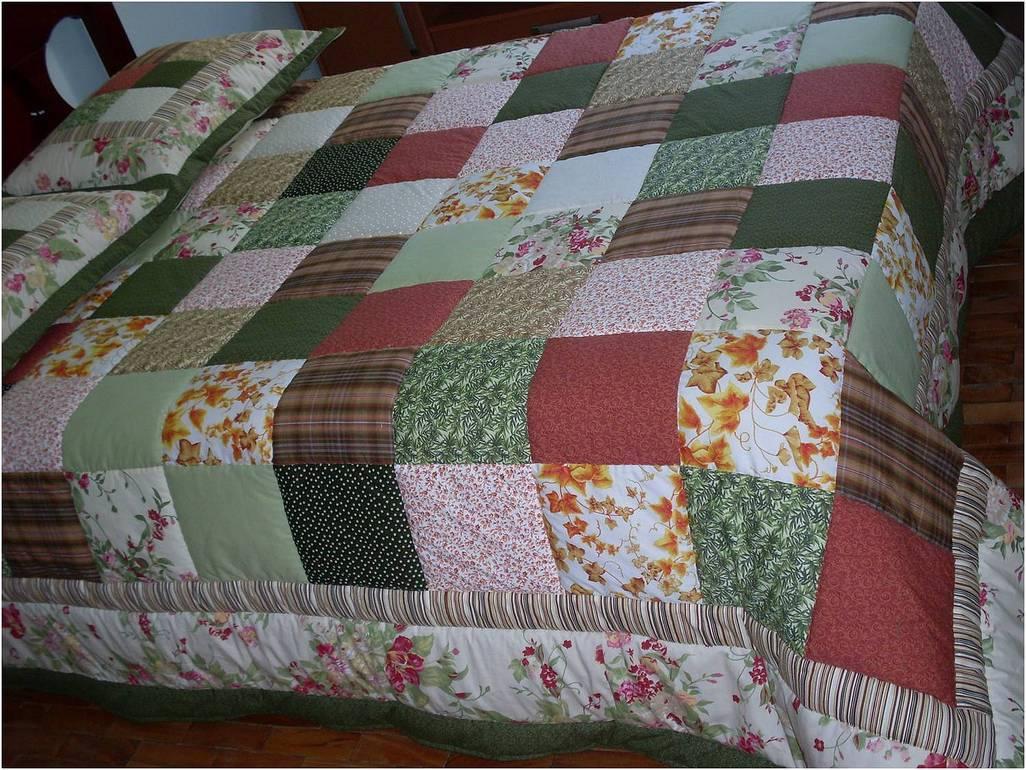 Colcha em patchwork fatimas patch elo7 - Colcha patchwork ...