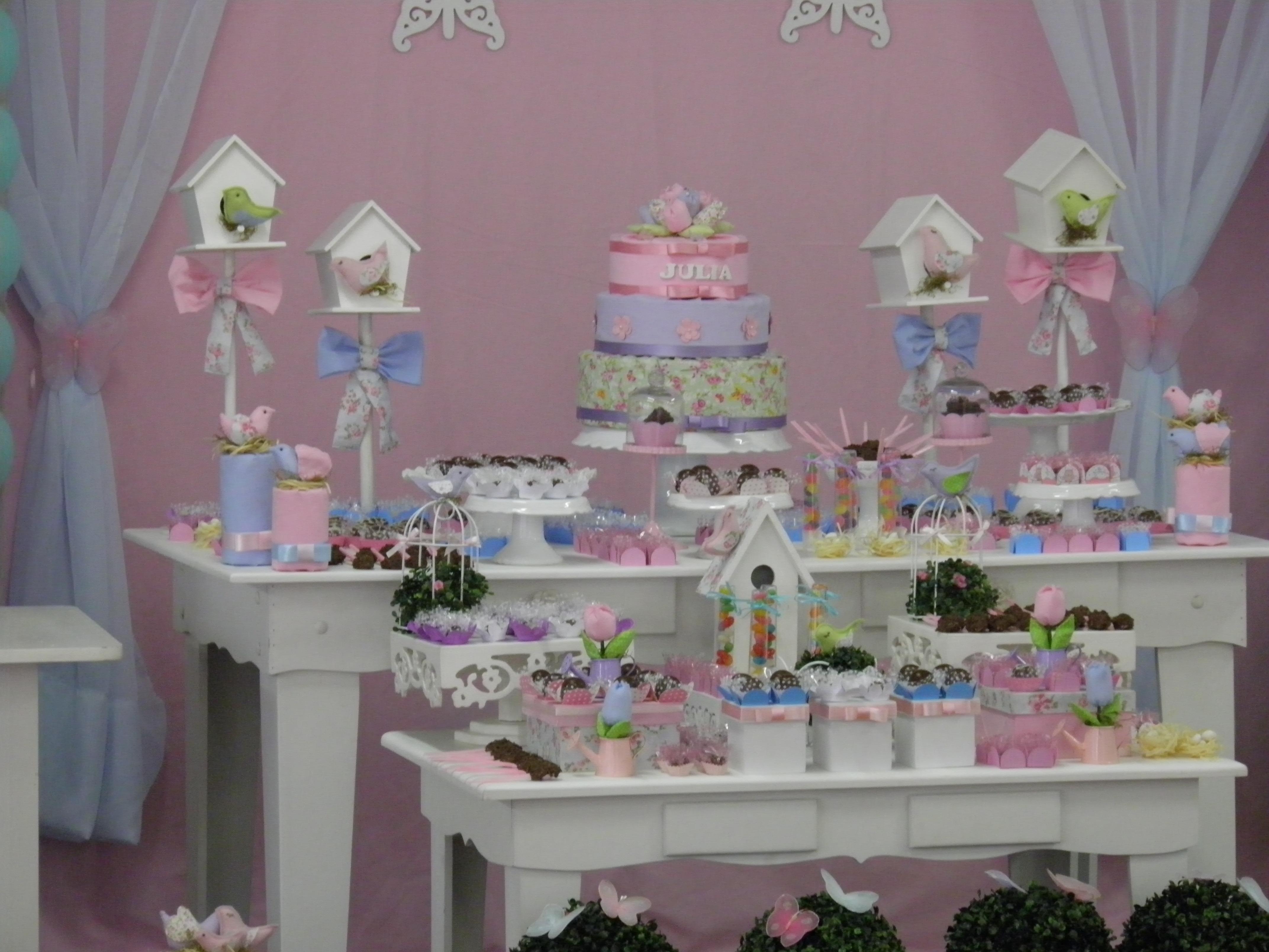 decoracao de jardim para festa infantil : decoracao de jardim para festa infantil:Festa jardim passarinhos e borboletas