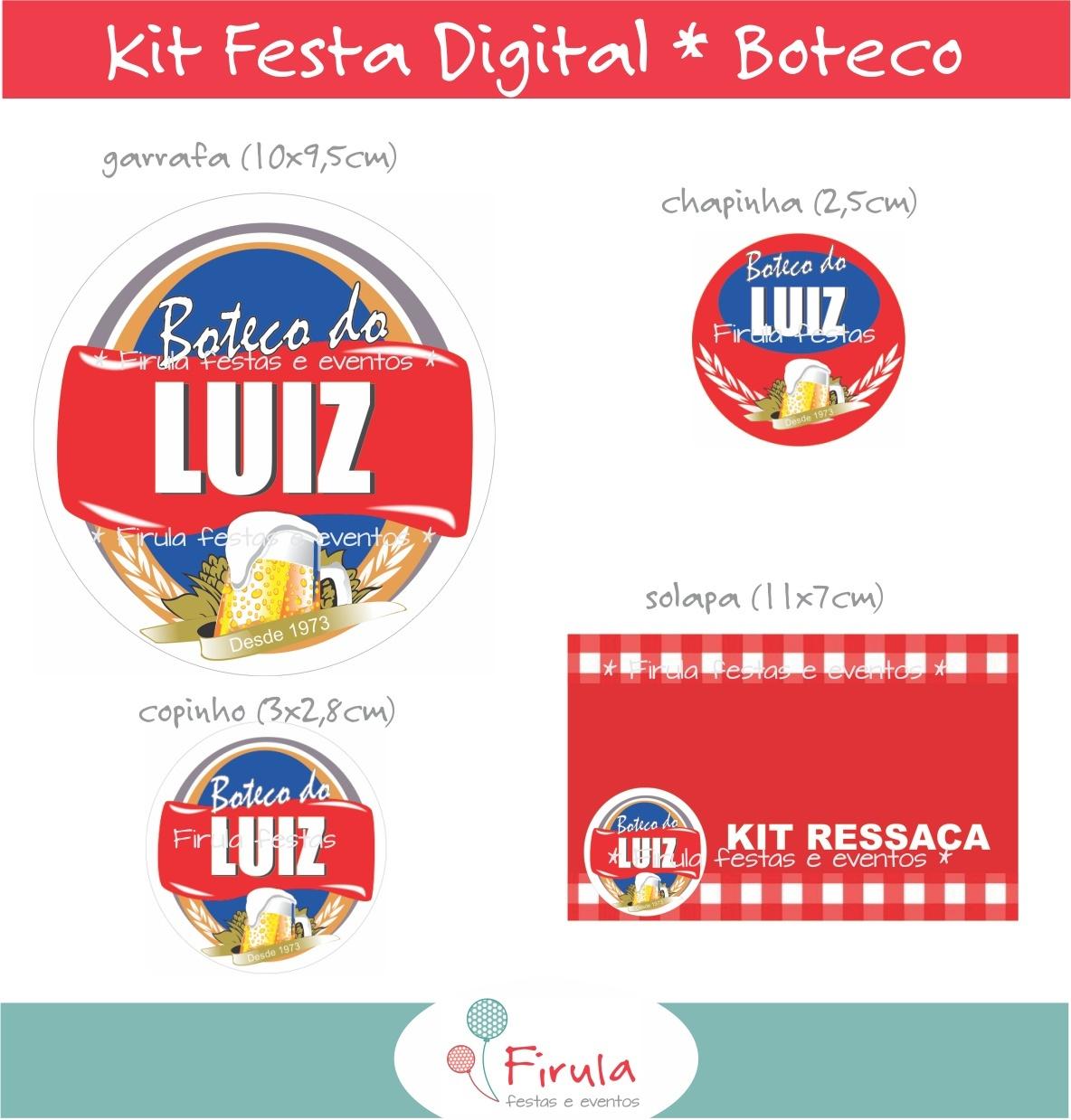 decoracao festa boteco passo a passo:Kit Festa Digital Boteco #B6151C 1184 1239