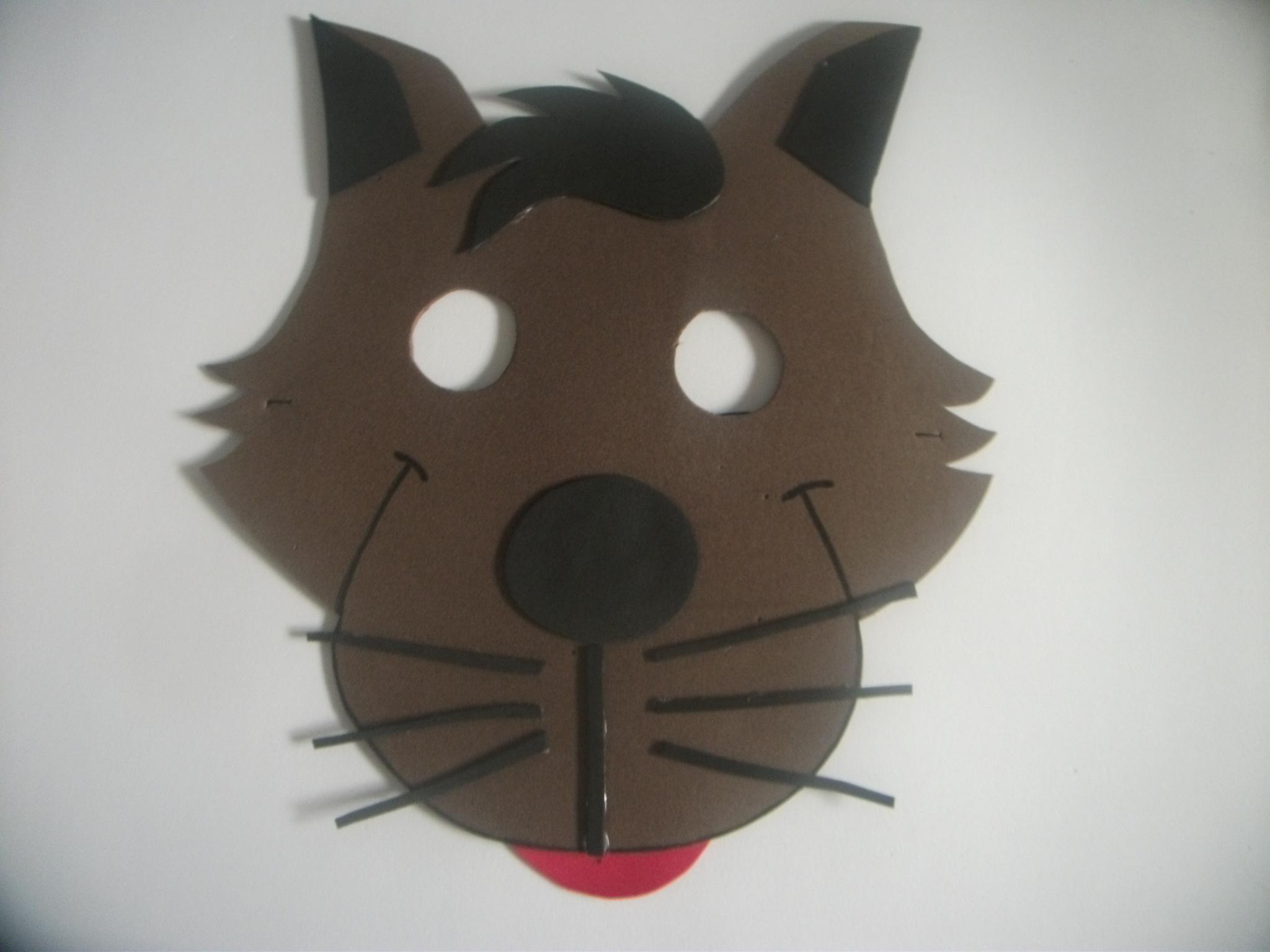 Como hacer una mascara del lobo lobito con fomi - Imagui