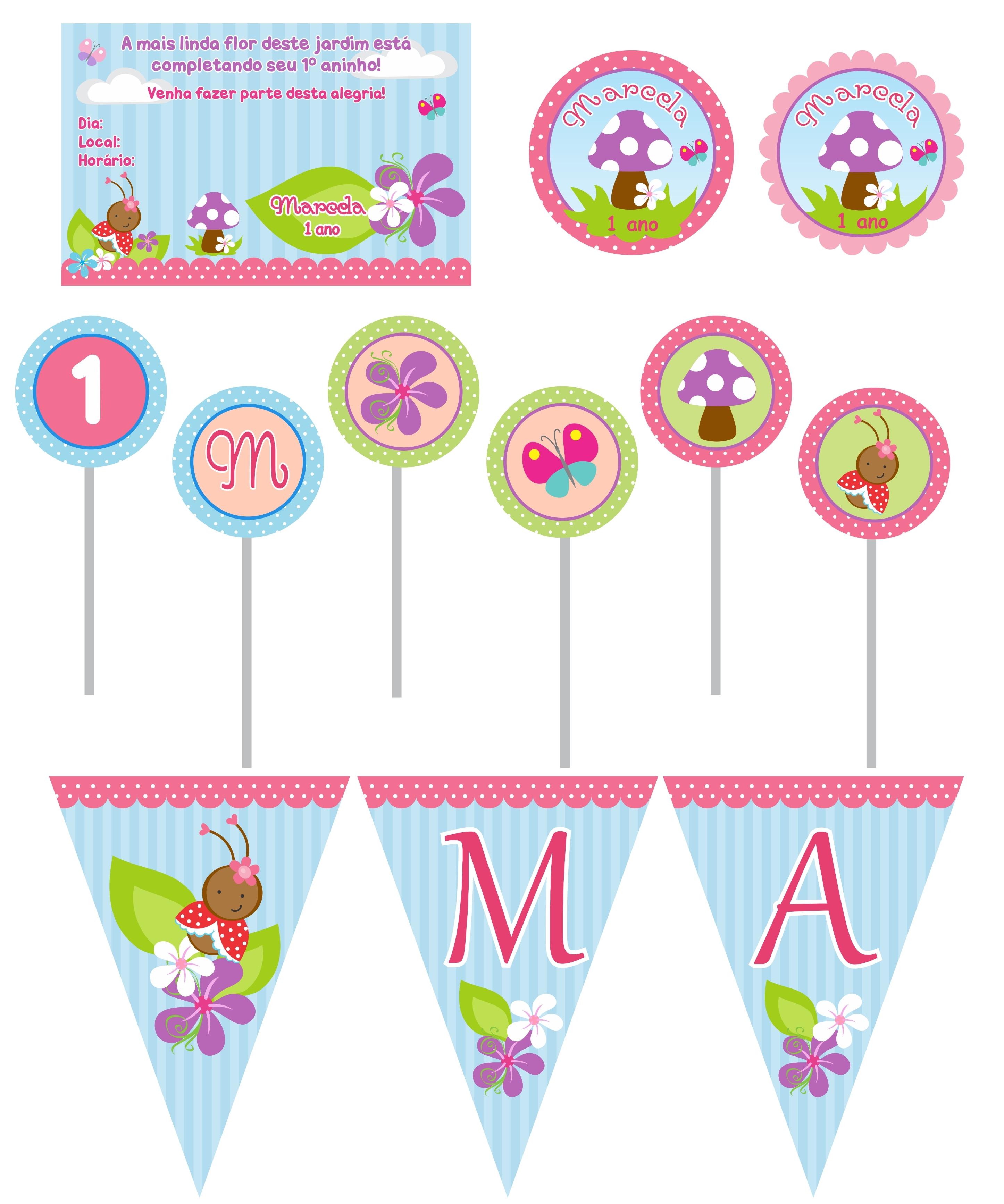 decoracao infantil jardim encantado cromus:Kit Festa jardim Encantado