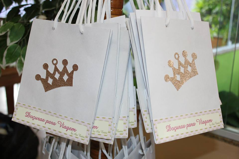 Bolsa De Papel Personalizada Casamento : Bolsa de papel personalizada guloseimas festafeita