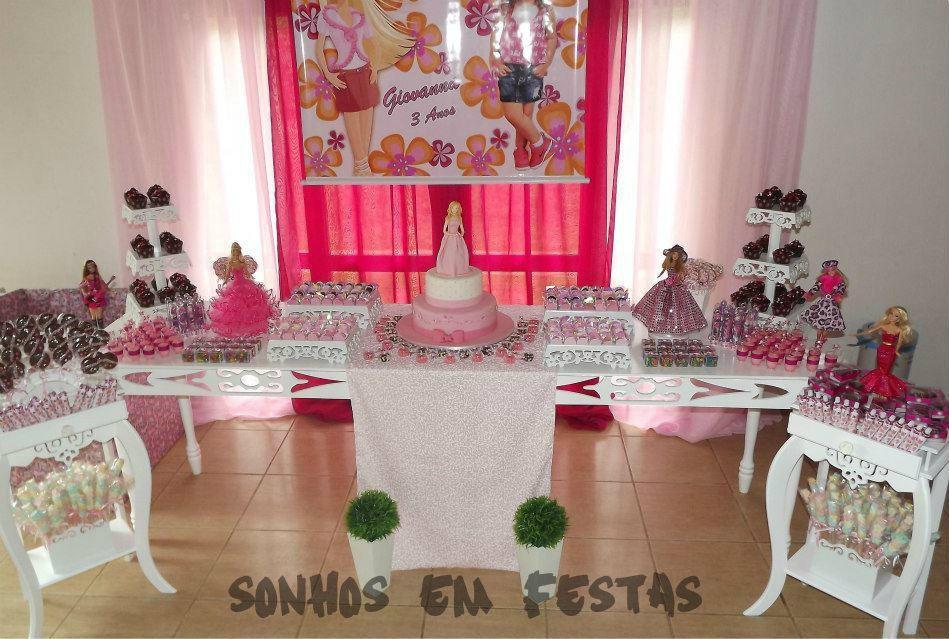 decoracao festa barbie : decoracao festa barbie: Barbie Festa Decoração Barbie Festa Decoração Barbie Festa