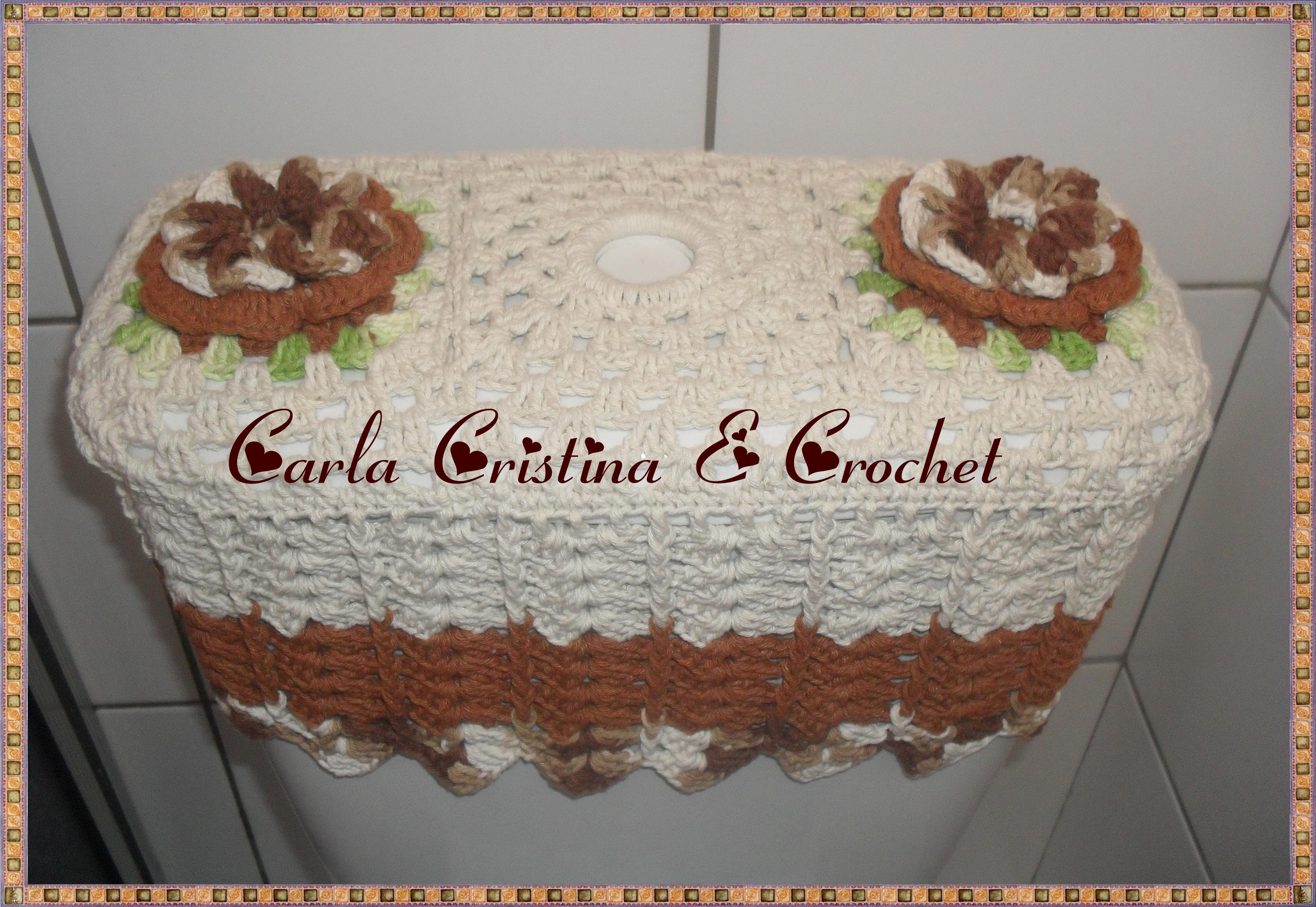 Capa Em Croche P Caixa Acoplada Flores Caixa Acoplada Capa Em Croche P  #9E672D 3804x2623 Banheiro Acessível Com Caixa Acoplada