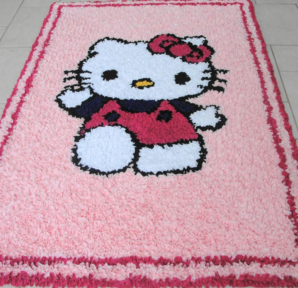 TAPETE HELLO KITTY CRIS Frufru Elo7 ~ Tapetes Quarto Hello Kitty
