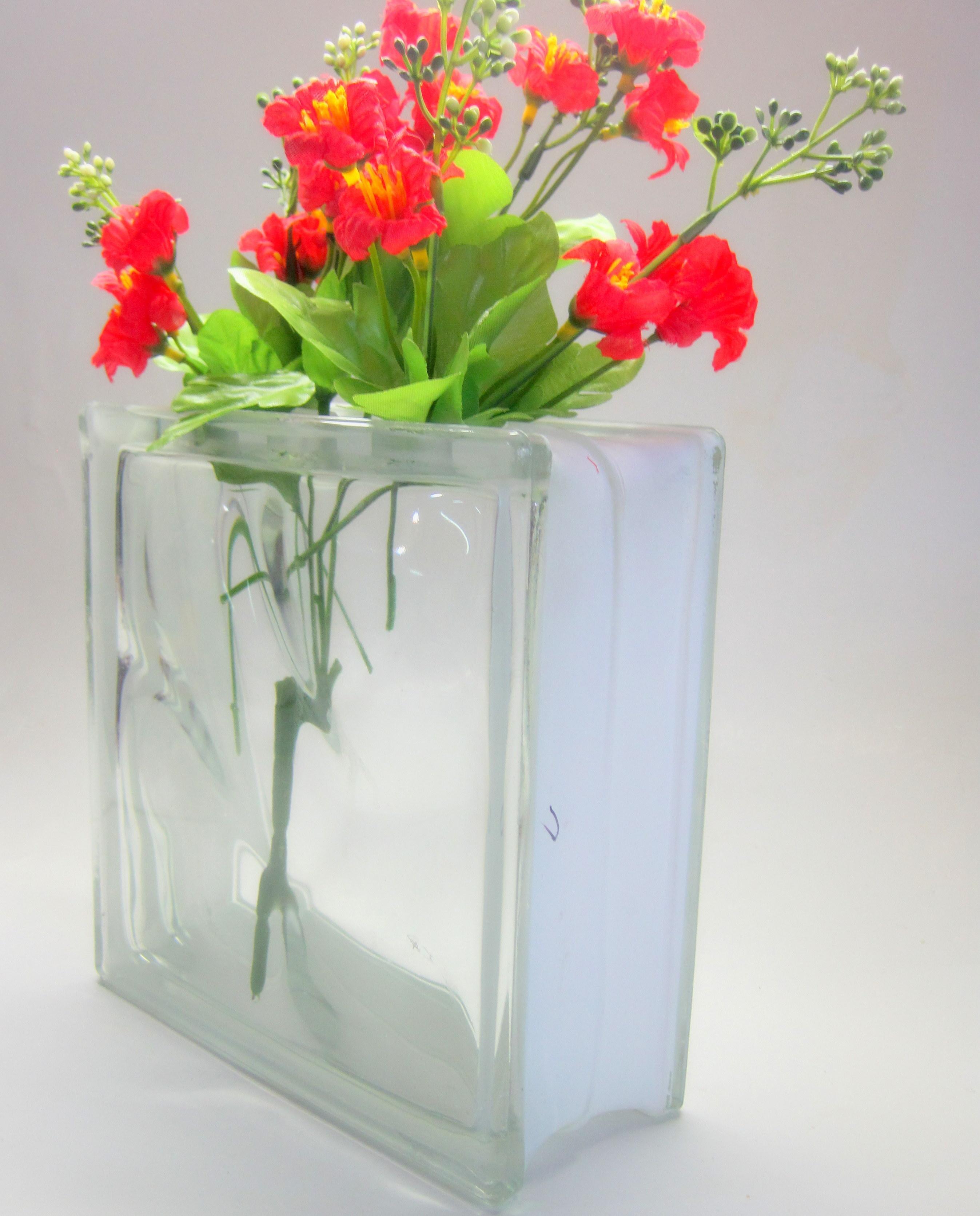 #C30818 Vaso Bloco de vidro GlassGift Design Elo7 2694x3340 px Banheiro Decorado Com Bloco De Vidro 3649