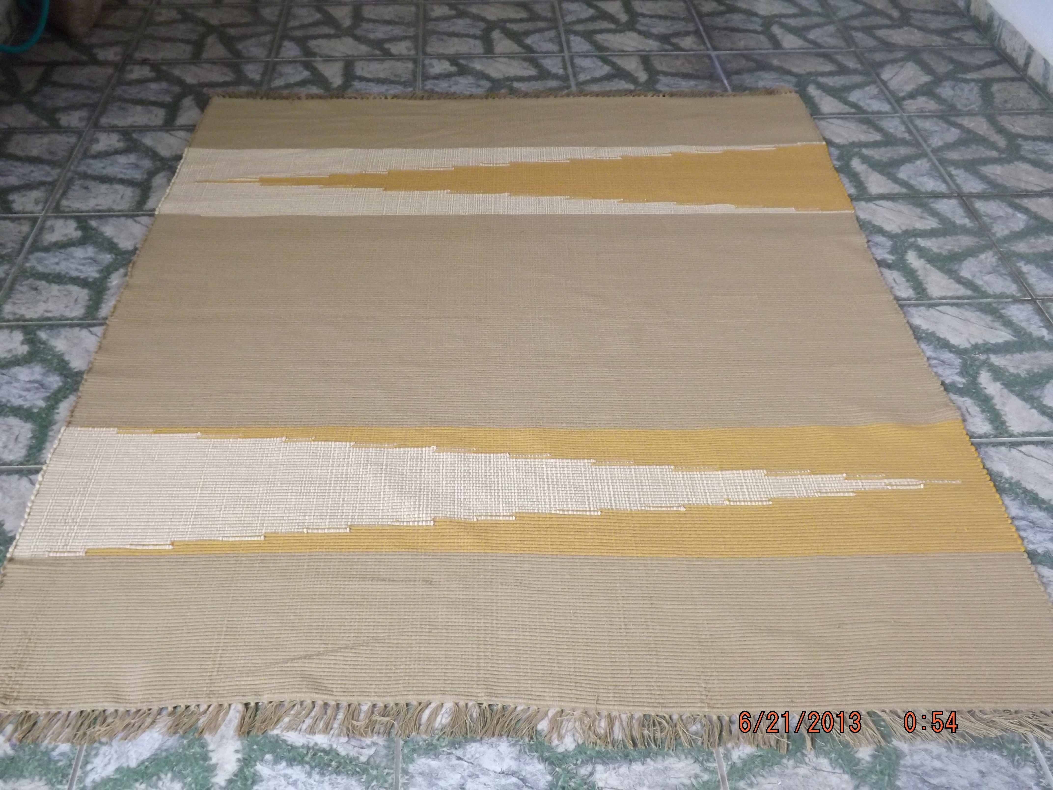 Tapete 1 50 x 2 00 tecelagem casagrande elo7 for Ecksofa 1 50 x 2 00