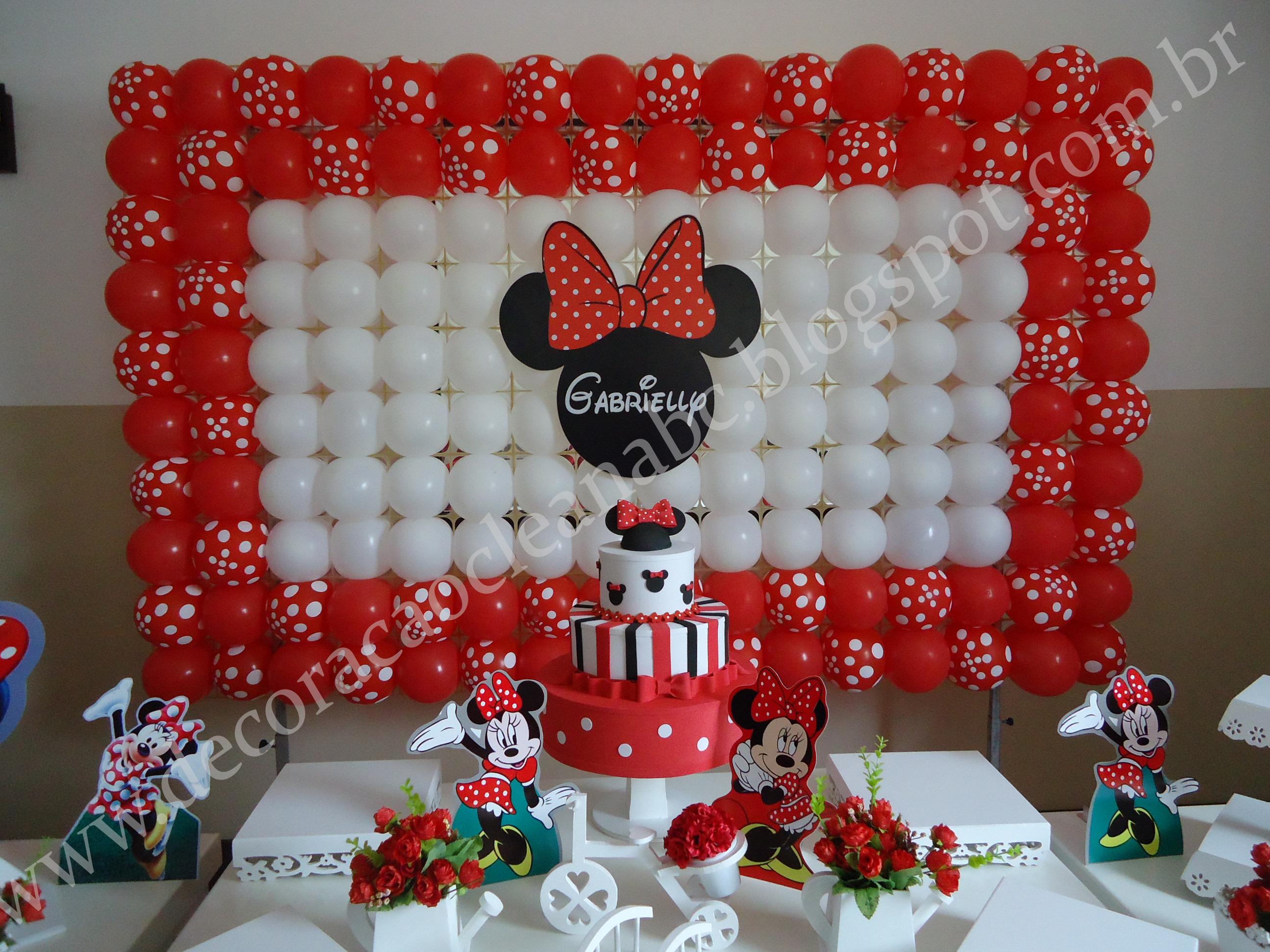 Decoração Clean Minnie Vermelha Decoração Clean Minnie Vermelha