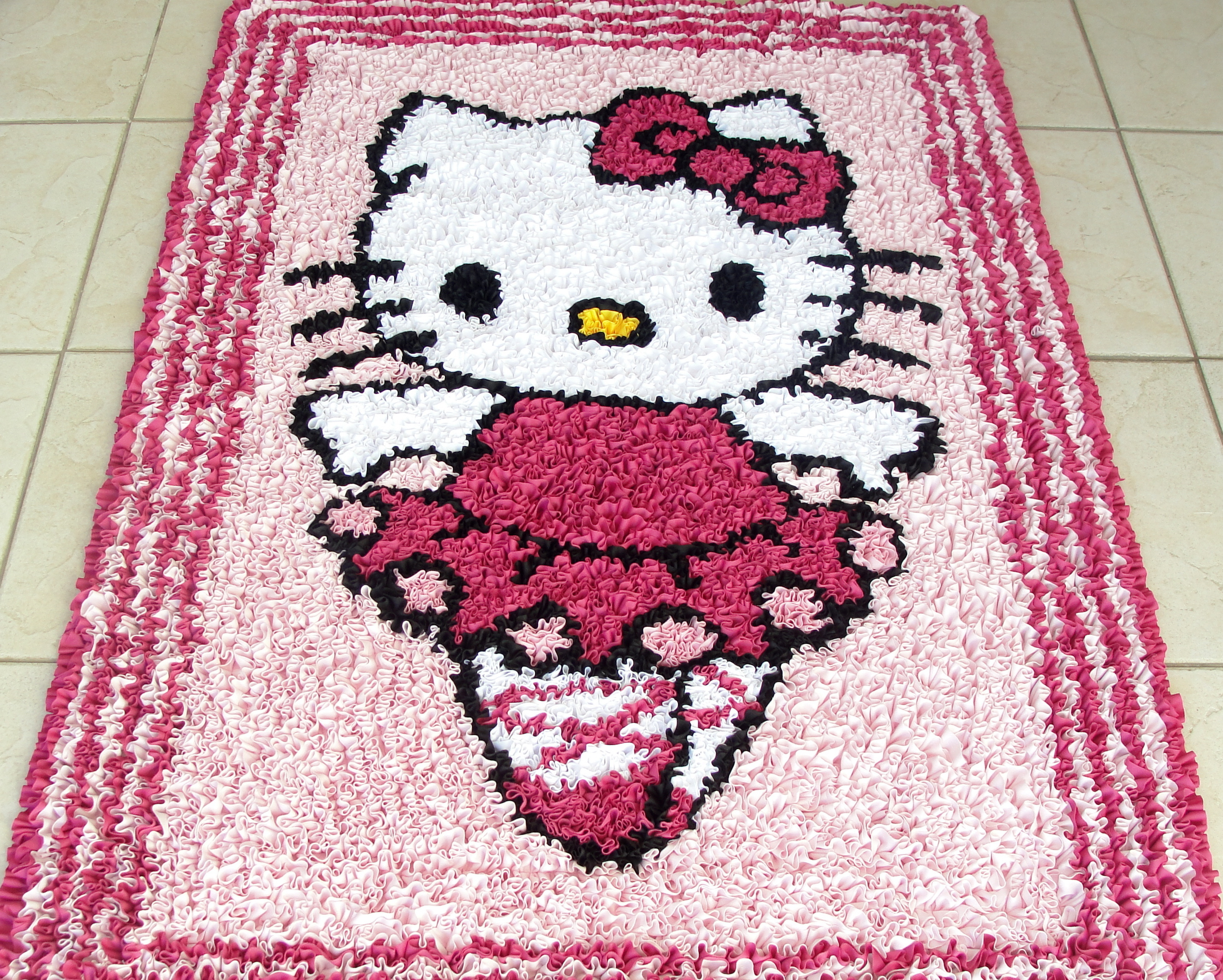 Tapete Hello Kitty BAILARINA CRIS Frufru Elo7 ~ Tapetes Quarto Hello Kitty