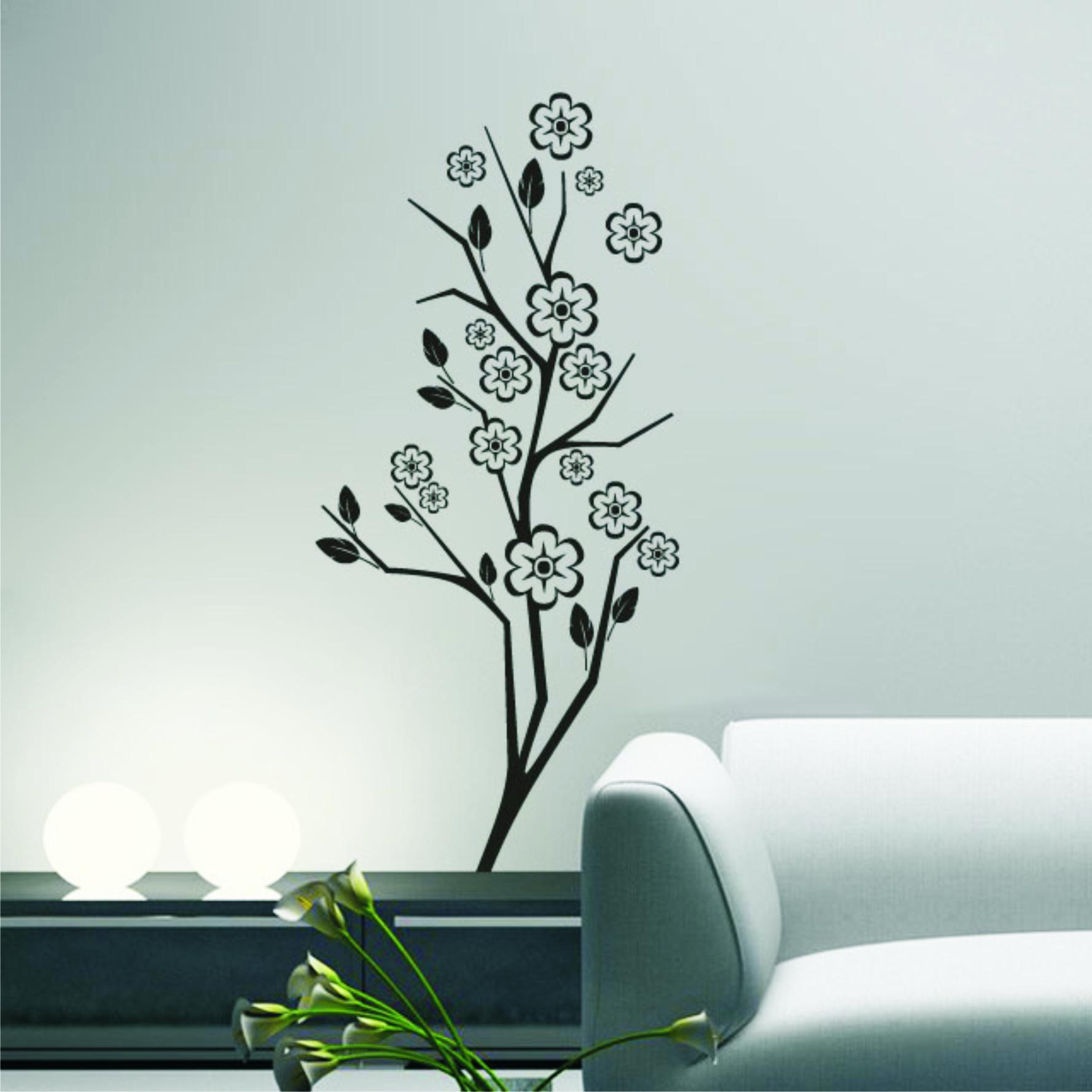 Armario Planejado Para Quarto Casal Pequeno ~ Adesivo Decoraç u00e3o Parede Galho e flores Adesivos de Parede Frete GRÁTIS