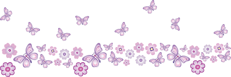 Adesivo De Parede Infantil Joaninha ~ Adesivo Faixa Encantadas Lilás Ideia Cor adesivos decorativos Elo7