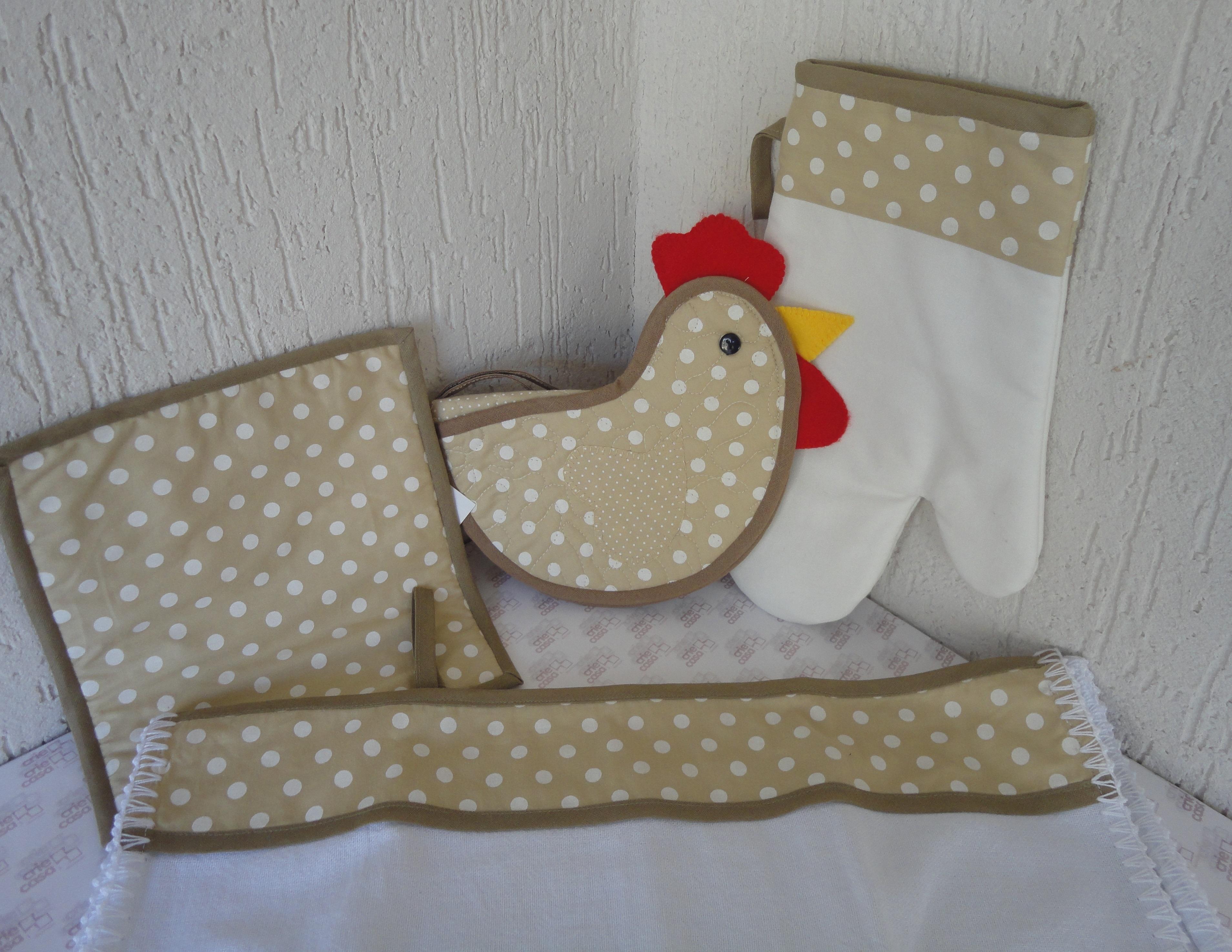 kit decoracao cozinha : kit decoracao cozinha:Kit Cozinha Patchwork Galinha Poá