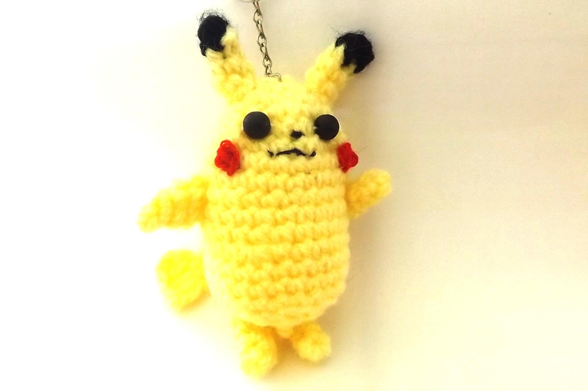 Pikachu (pokemon) Chaveiro Ou ?ma Pixel Art Elo7